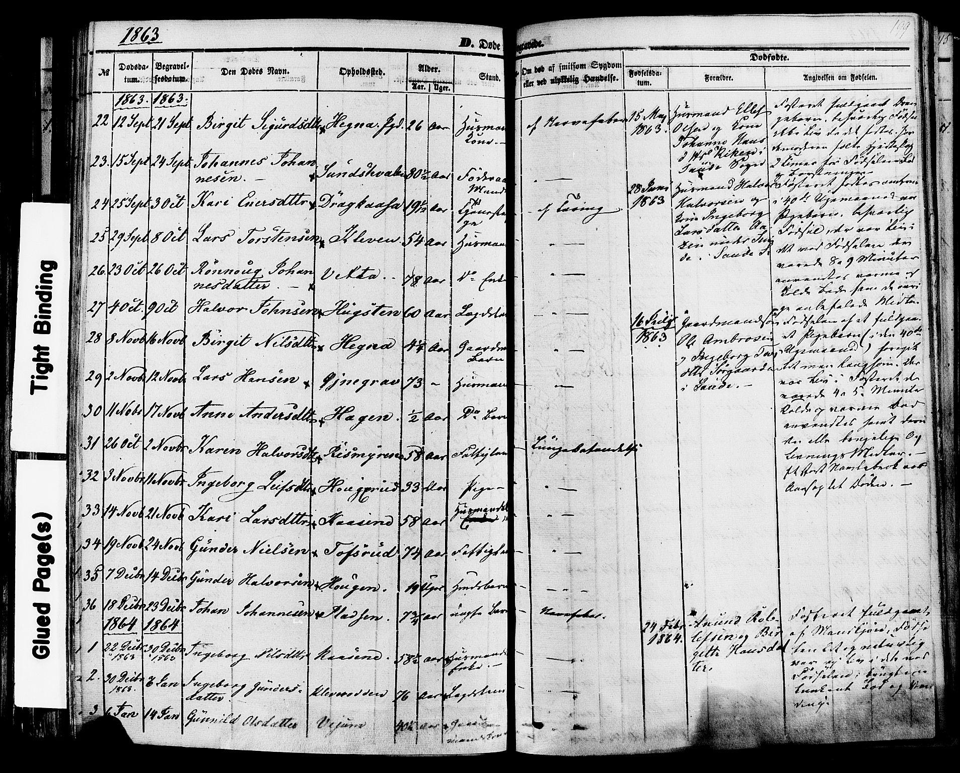 SAKO, Sauherad kirkebøker, F/Fa/L0007: Ministerialbok nr. I 7, 1851-1873, s. 199
