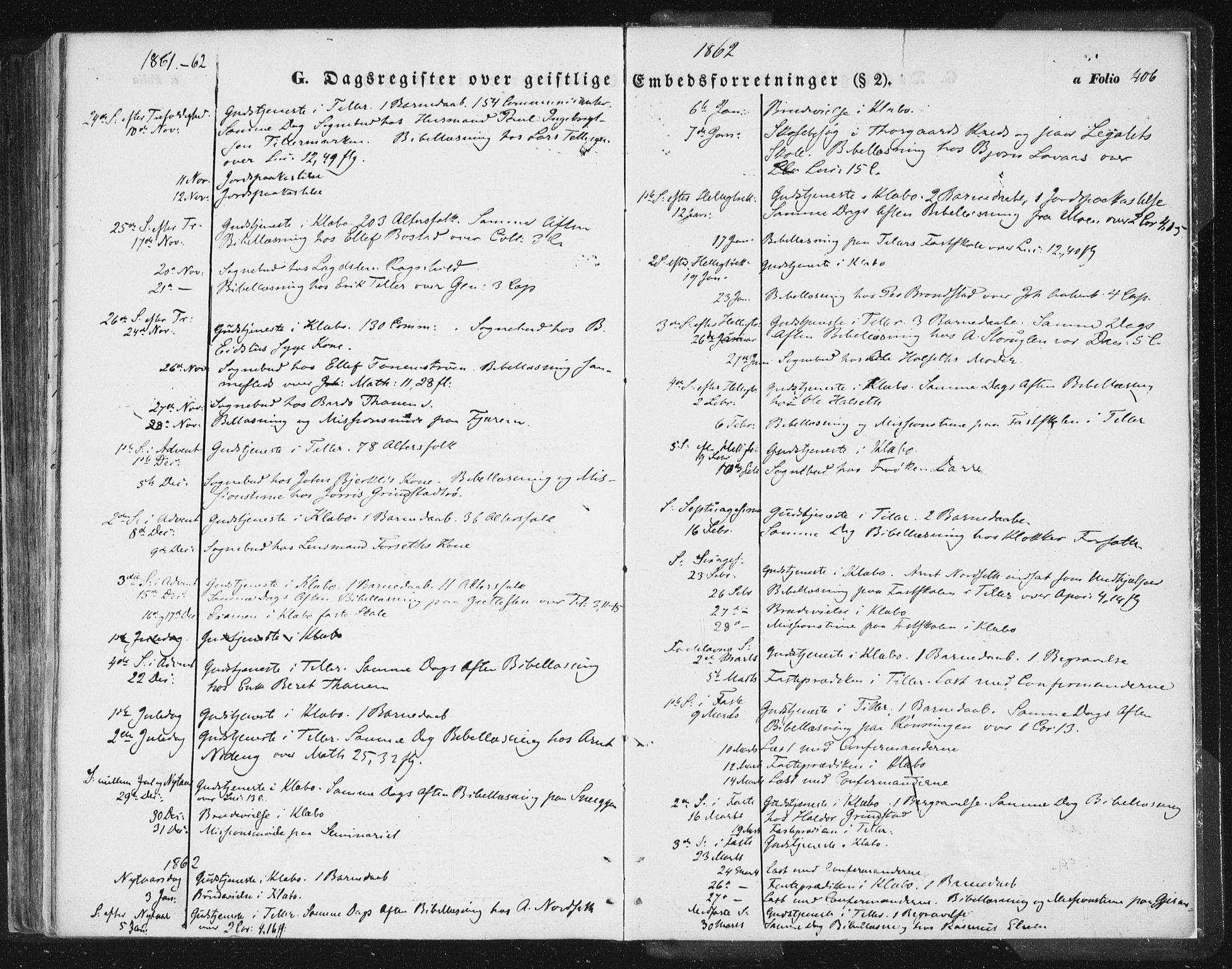 SAT, Ministerialprotokoller, klokkerbøker og fødselsregistre - Sør-Trøndelag, 618/L0441: Ministerialbok nr. 618A05, 1843-1862, s. 406