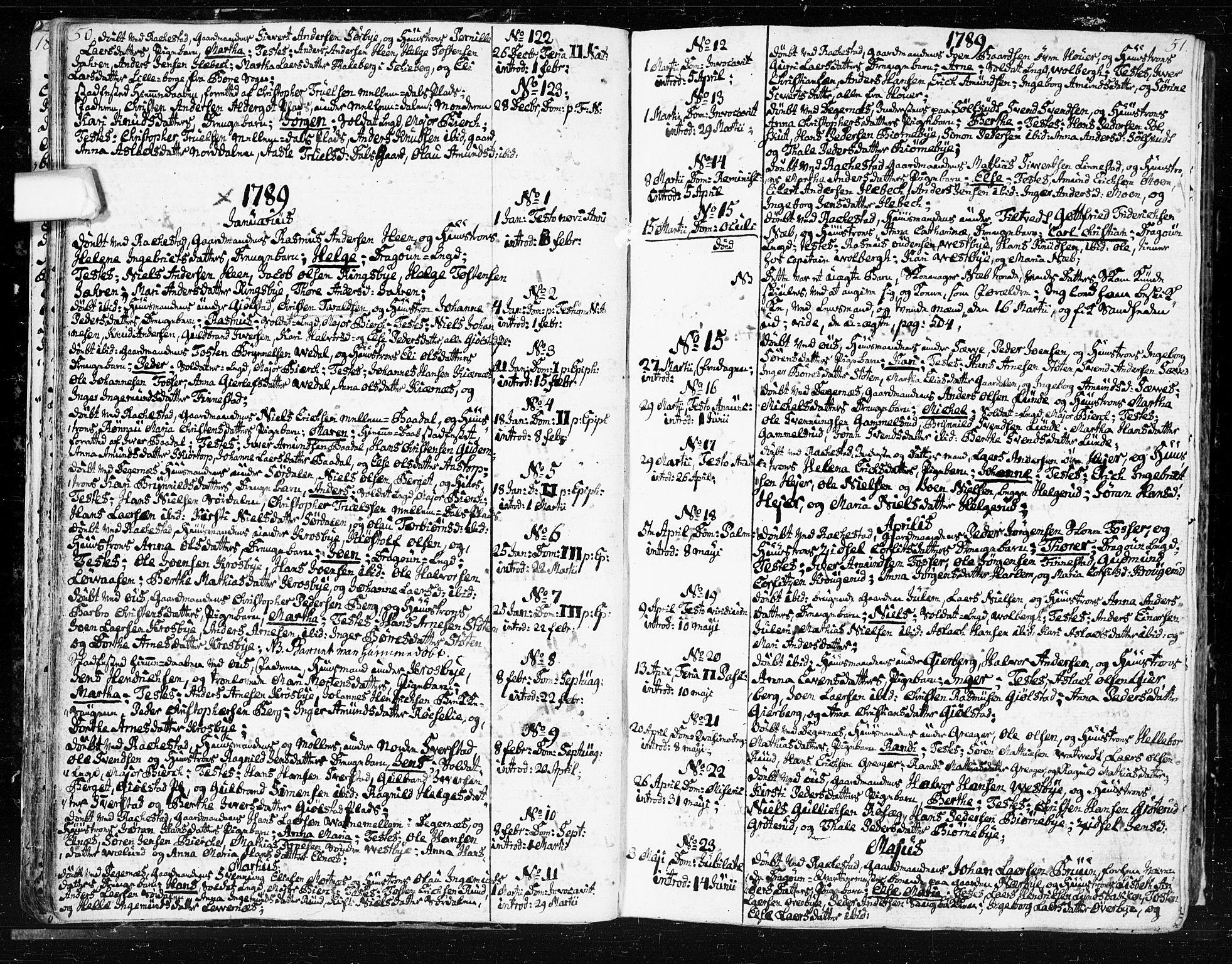 SAO, Rakkestad prestekontor Kirkebøker, F/Fa/L0005: Ministerialbok nr. I 5, 1784-1814, s. 50-51
