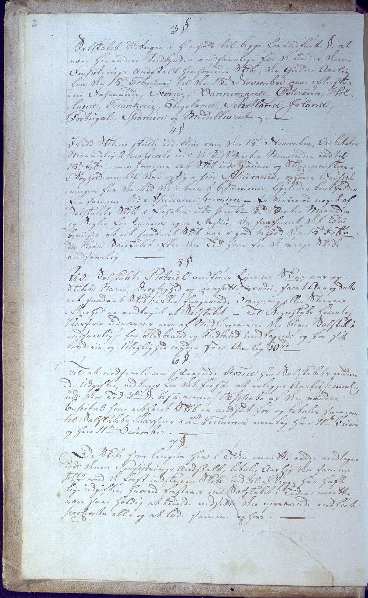 AAKS, Oxefjordens indbyrdes Assuranceselskab, A/A01/L0001: Forhandlingsprotokoll med regnskap, 1806-1819, s. 2