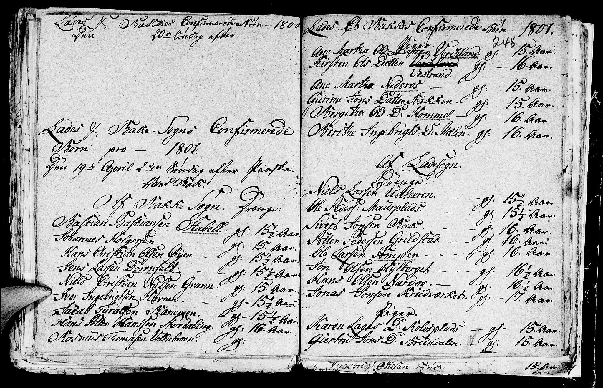 SAT, Ministerialprotokoller, klokkerbøker og fødselsregistre - Sør-Trøndelag, 604/L0218: Klokkerbok nr. 604C01, 1754-1819, s. 248