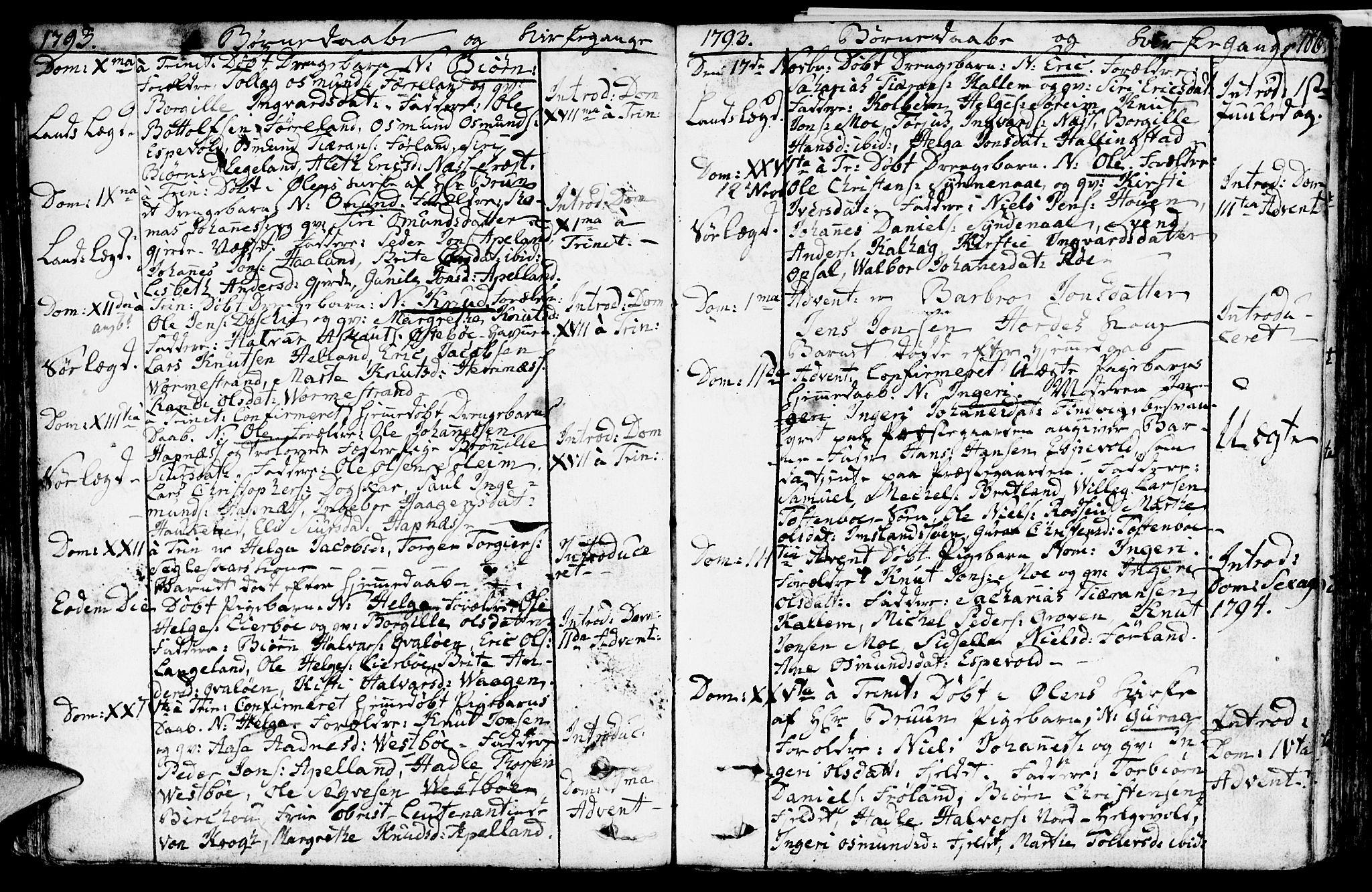 SAST, Vikedal sokneprestkontor, IV: Ministerialbok nr. A 2, 1779-1817, s. 106
