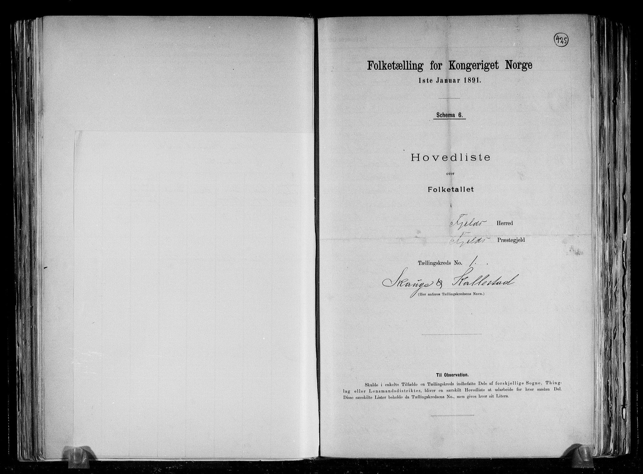 RA, Folketelling 1891 for 1246 Fjell herred, 1891, s. 7