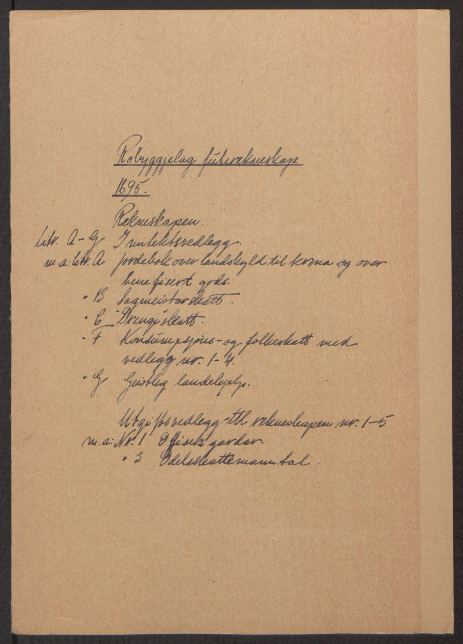 RA, Rentekammeret inntil 1814, Reviderte regnskaper, Fogderegnskap, R40/L2444: Fogderegnskap Råbyggelag, 1693-1696, s. 200