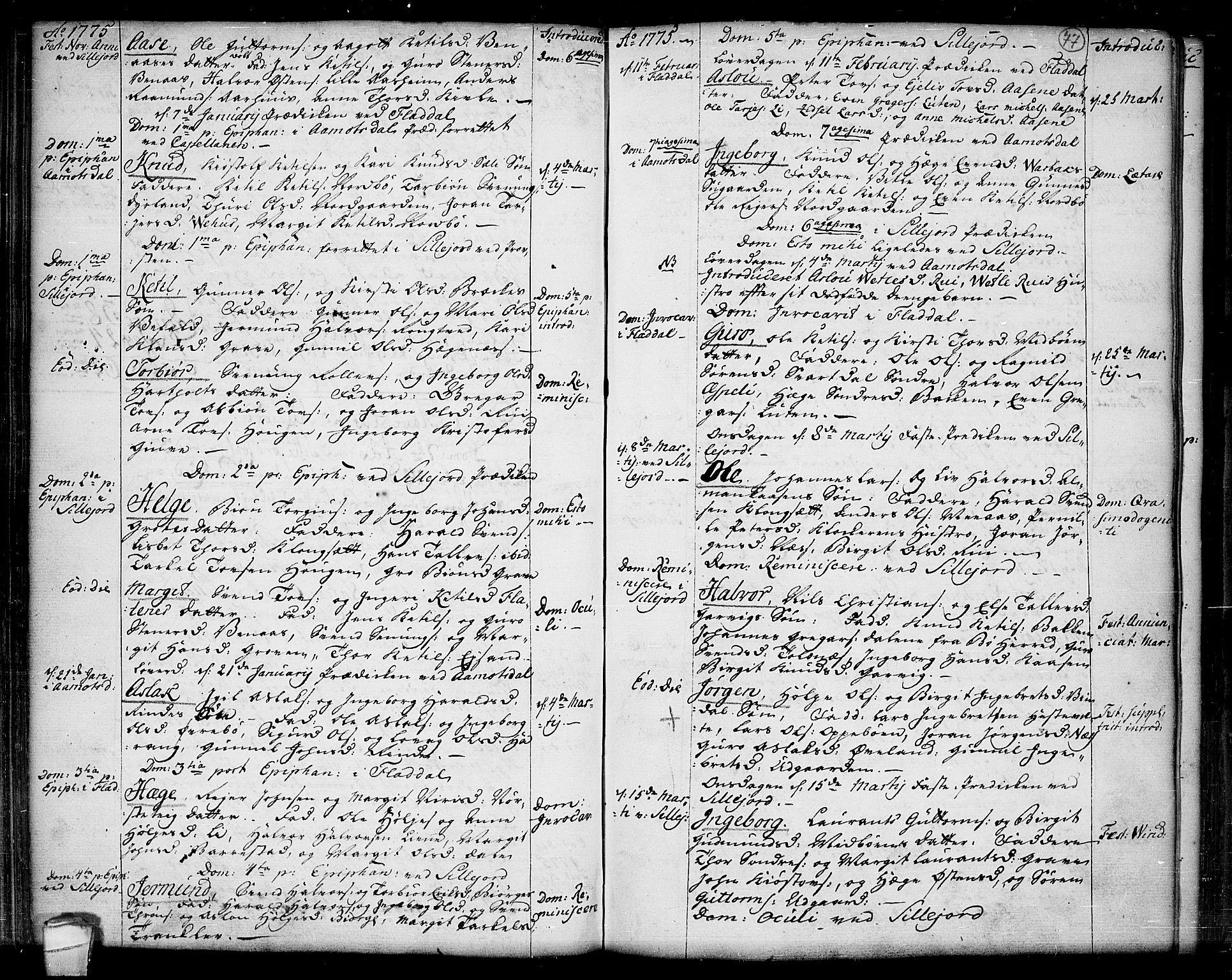 SAKO, Seljord kirkebøker, F/Fa/L0007: Ministerialbok nr. I 7, 1755-1800, s. 77