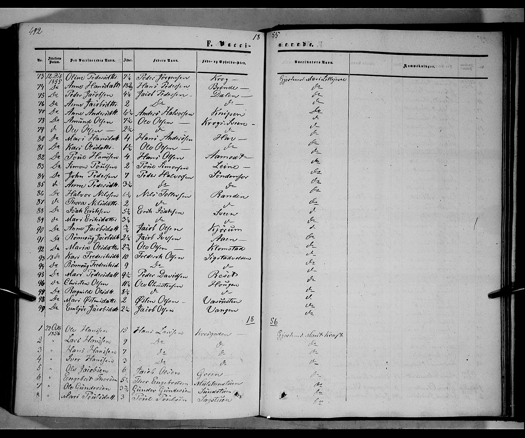 SAH, Nord-Fron prestekontor, Ministerialbok nr. 1, 1851-1864, s. 492