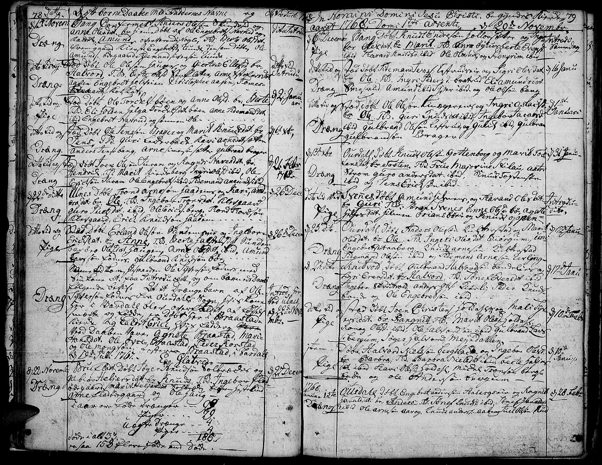 SAH, Aurdal prestekontor, Ministerialbok nr. 5, 1763-1781, s. 78-79
