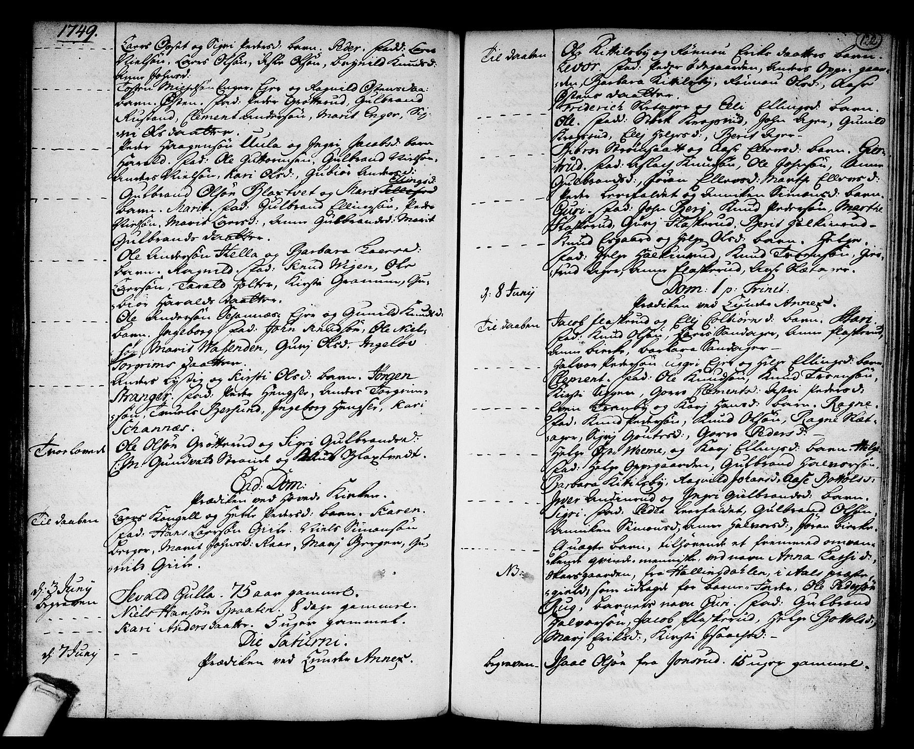 SAKO, Norderhov kirkebøker, F/Fa/L0003a: Ministerialbok nr. 3, 1740-1757, s. 122