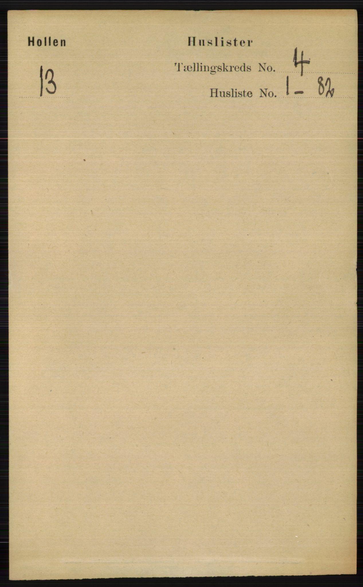 RA, Folketelling 1891 for 0819 Holla herred, 1891, s. 2172