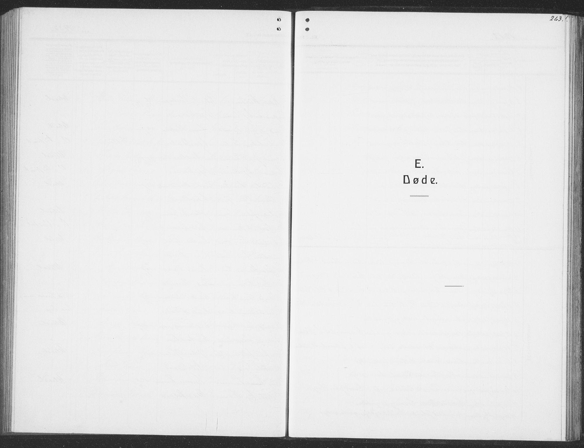 SAT, Ministerialprotokoller, klokkerbøker og fødselsregistre - Sør-Trøndelag, 691/L1095: Klokkerbok nr. 691C06, 1912-1933, s. 263