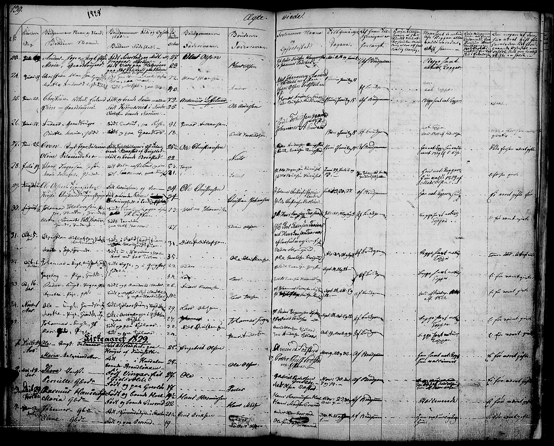SAH, Vestre Toten prestekontor, Ministerialbok nr. 2, 1825-1837, s. 139