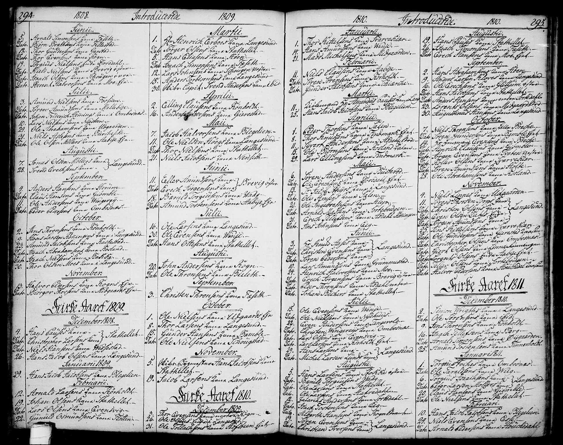 SAKO, Bamble kirkebøker, F/Fa/L0002: Ministerialbok nr. I 2, 1775-1814, s. 294-295