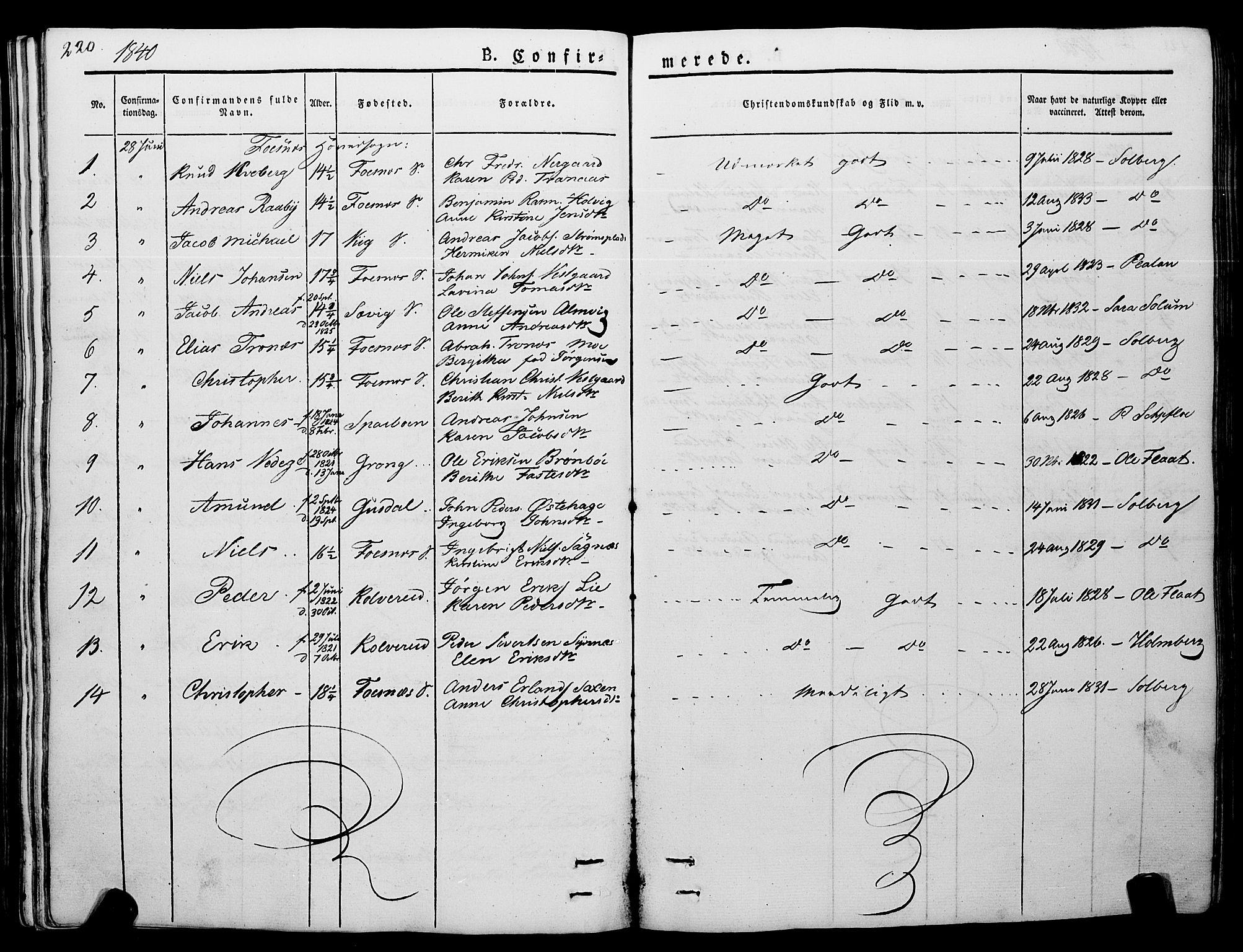 SAT, Ministerialprotokoller, klokkerbøker og fødselsregistre - Nord-Trøndelag, 773/L0614: Ministerialbok nr. 773A05, 1831-1856, s. 220