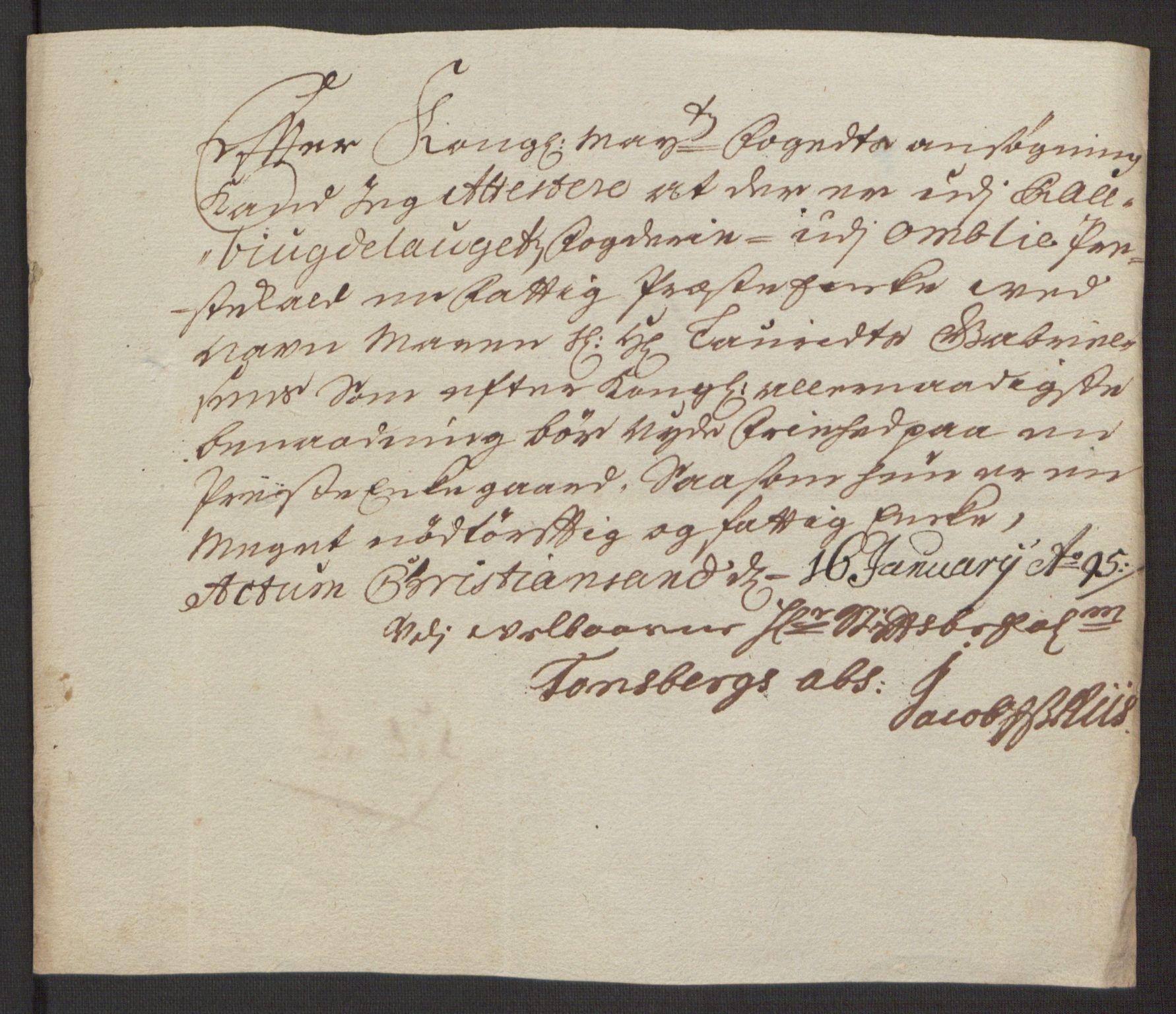 RA, Rentekammeret inntil 1814, Reviderte regnskaper, Fogderegnskap, R40/L2444: Fogderegnskap Råbyggelag, 1693-1696, s. 131