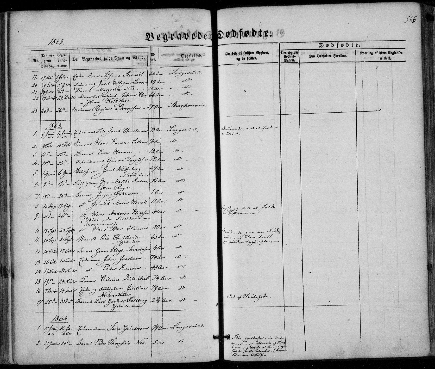 SAKO, Bamble kirkebøker, F/Fa/L0005: Ministerialbok nr. I 5, 1854-1869, s. 565