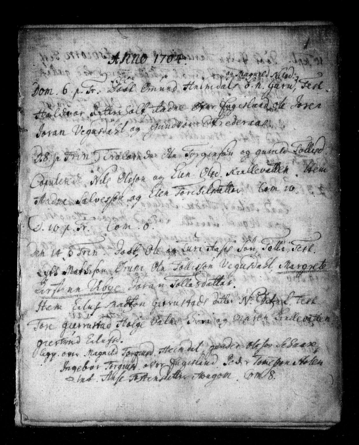 SAK, Herefoss sokneprestkontor, F/Fa/Fab/L0001: Ministerialbok nr. A 1, 1704-1779, s. 0-1