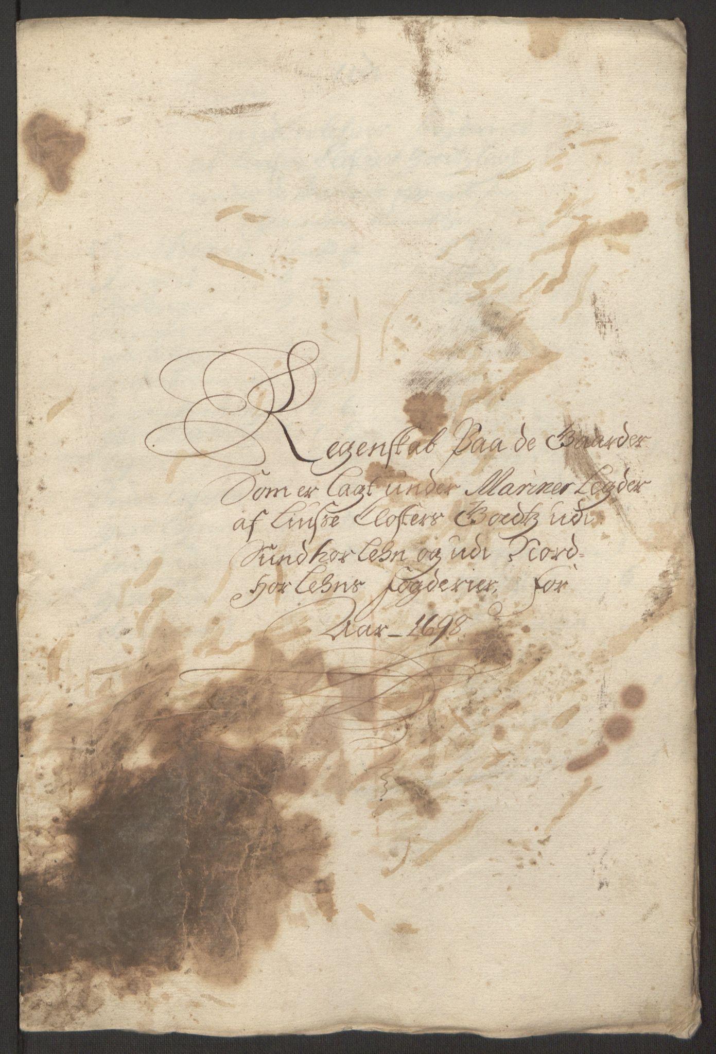 RA, Rentekammeret inntil 1814, Reviderte regnskaper, Fogderegnskap, R50/L3159: Fogderegnskap Lyse kloster, 1691-1709, s. 85