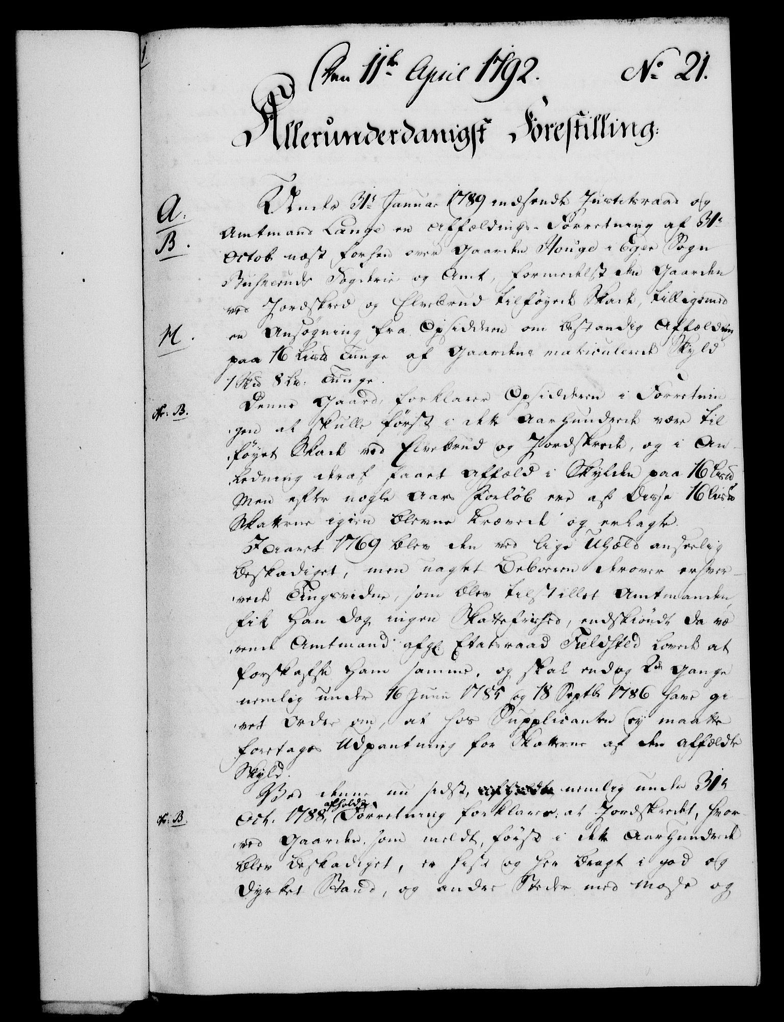 RA, Rentekammeret, Kammerkanselliet, G/Gf/Gfa/L0074: Norsk relasjons- og resolusjonsprotokoll (merket RK 52.74), 1792, s. 142
