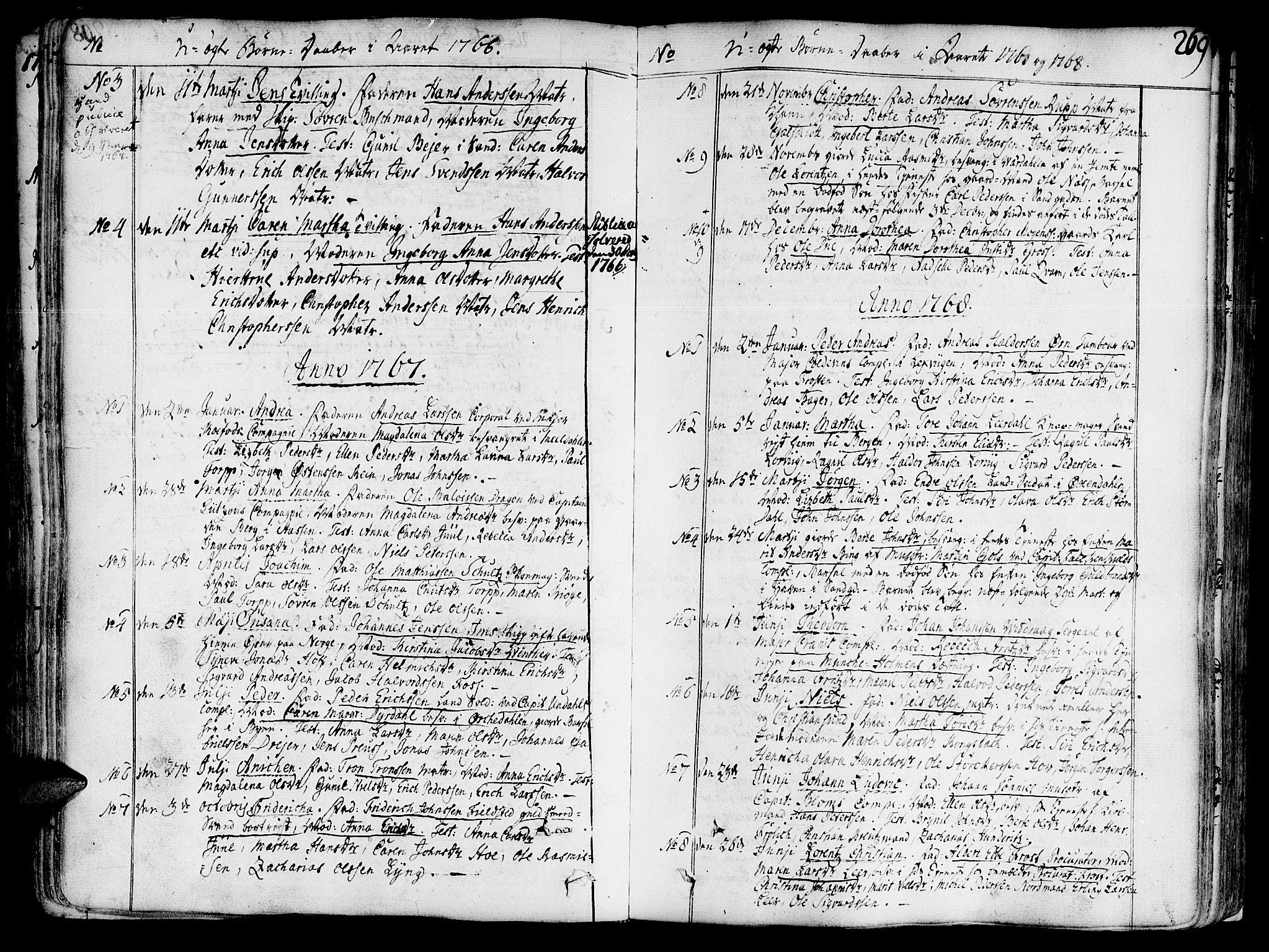 SAT, Ministerialprotokoller, klokkerbøker og fødselsregistre - Sør-Trøndelag, 602/L0103: Ministerialbok nr. 602A01, 1732-1774, s. 269