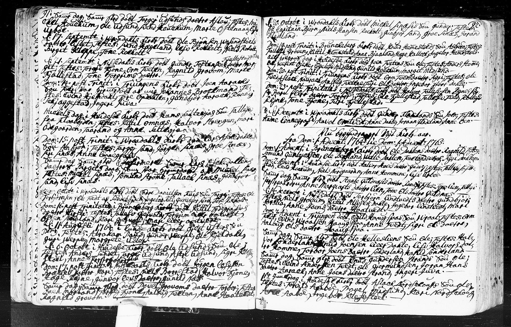SAKO, Kviteseid kirkebøker, F/Fa/L0001: Ministerialbok nr. I 1, 1754-1773, s. 91-92