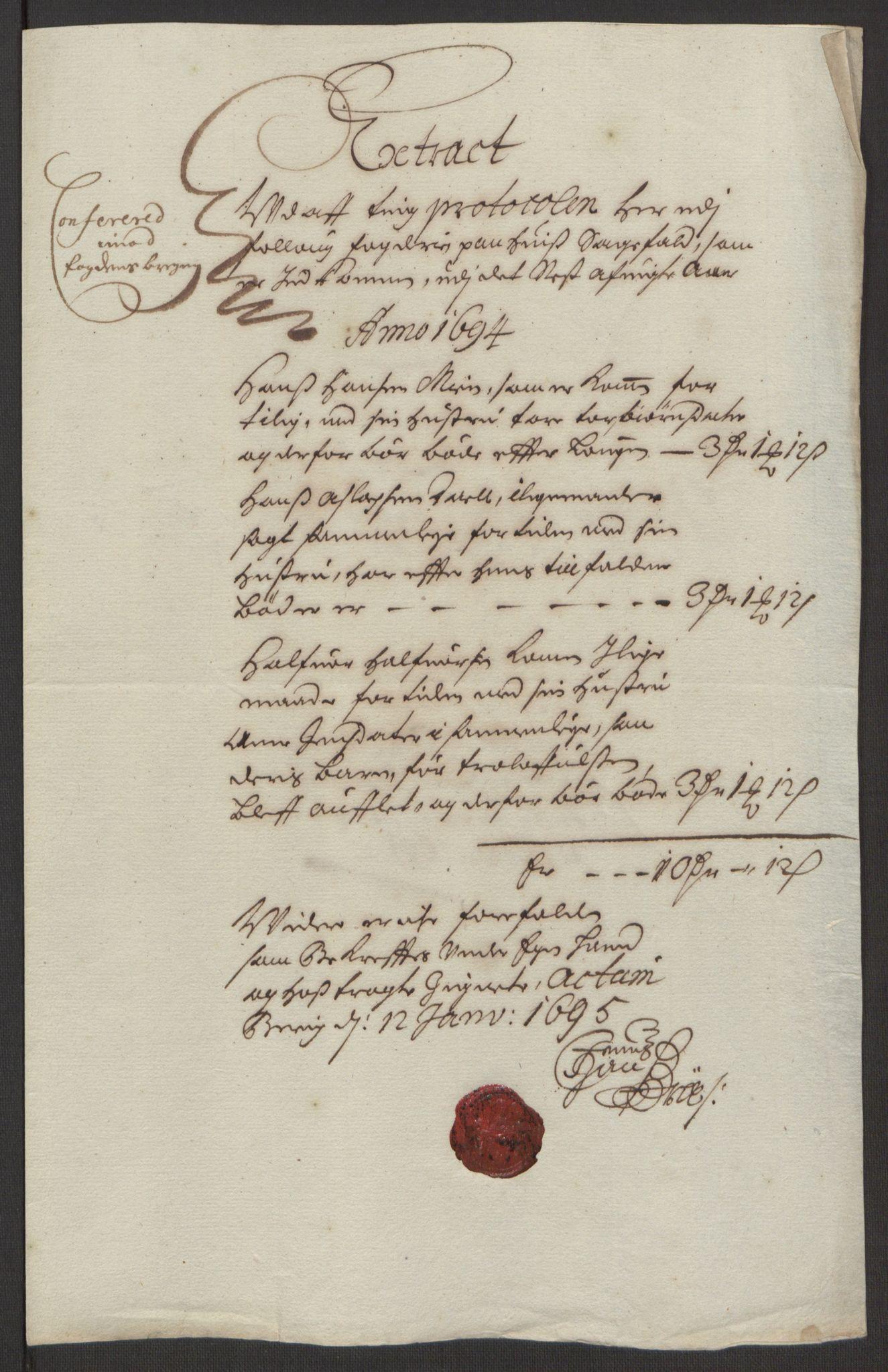RA, Rentekammeret inntil 1814, Reviderte regnskaper, Fogderegnskap, R10/L0438: Fogderegnskap Aker og Follo, 1694, s. 125