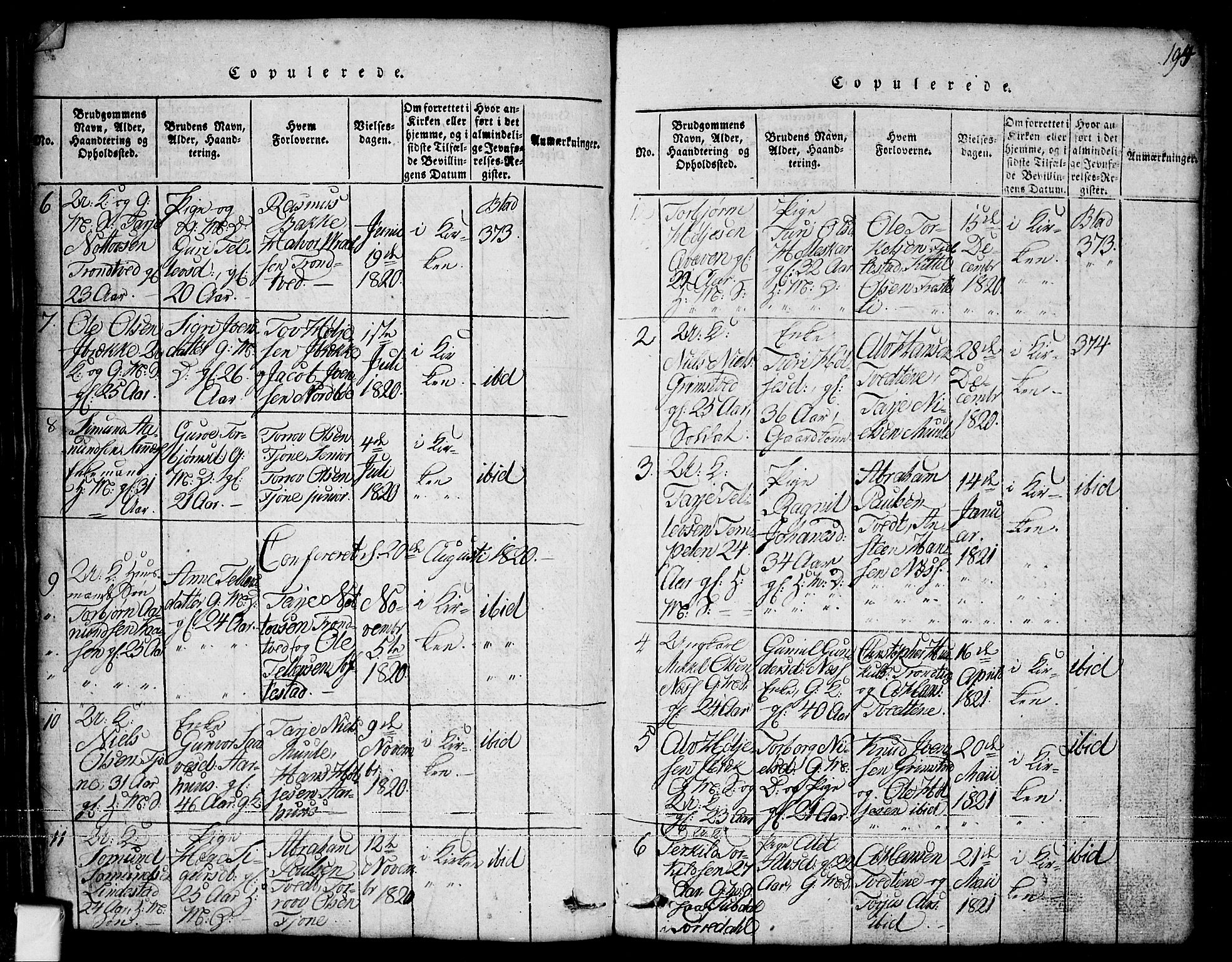 SAKO, Nissedal kirkebøker, G/Ga/L0001: Klokkerbok nr. I 1, 1814-1860, s. 194