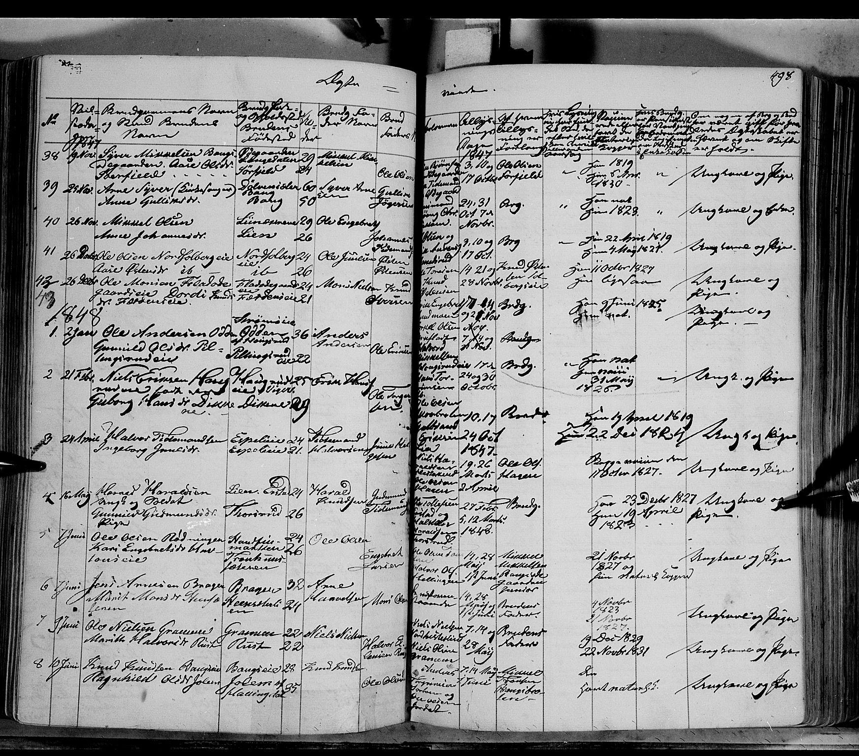 SAH, Sør-Aurdal prestekontor, Ministerialbok nr. 4, 1841-1849, s. 497-498