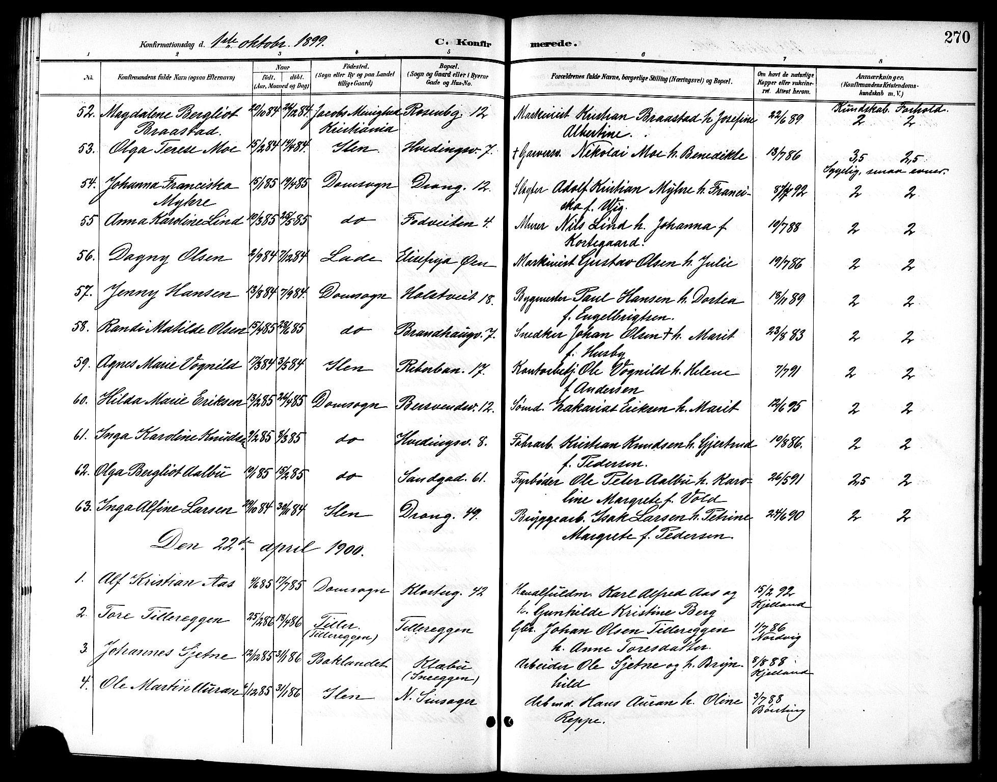 SAT, Ministerialprotokoller, klokkerbøker og fødselsregistre - Sør-Trøndelag, 601/L0094: Klokkerbok nr. 601C12, 1898-1911, s. 270