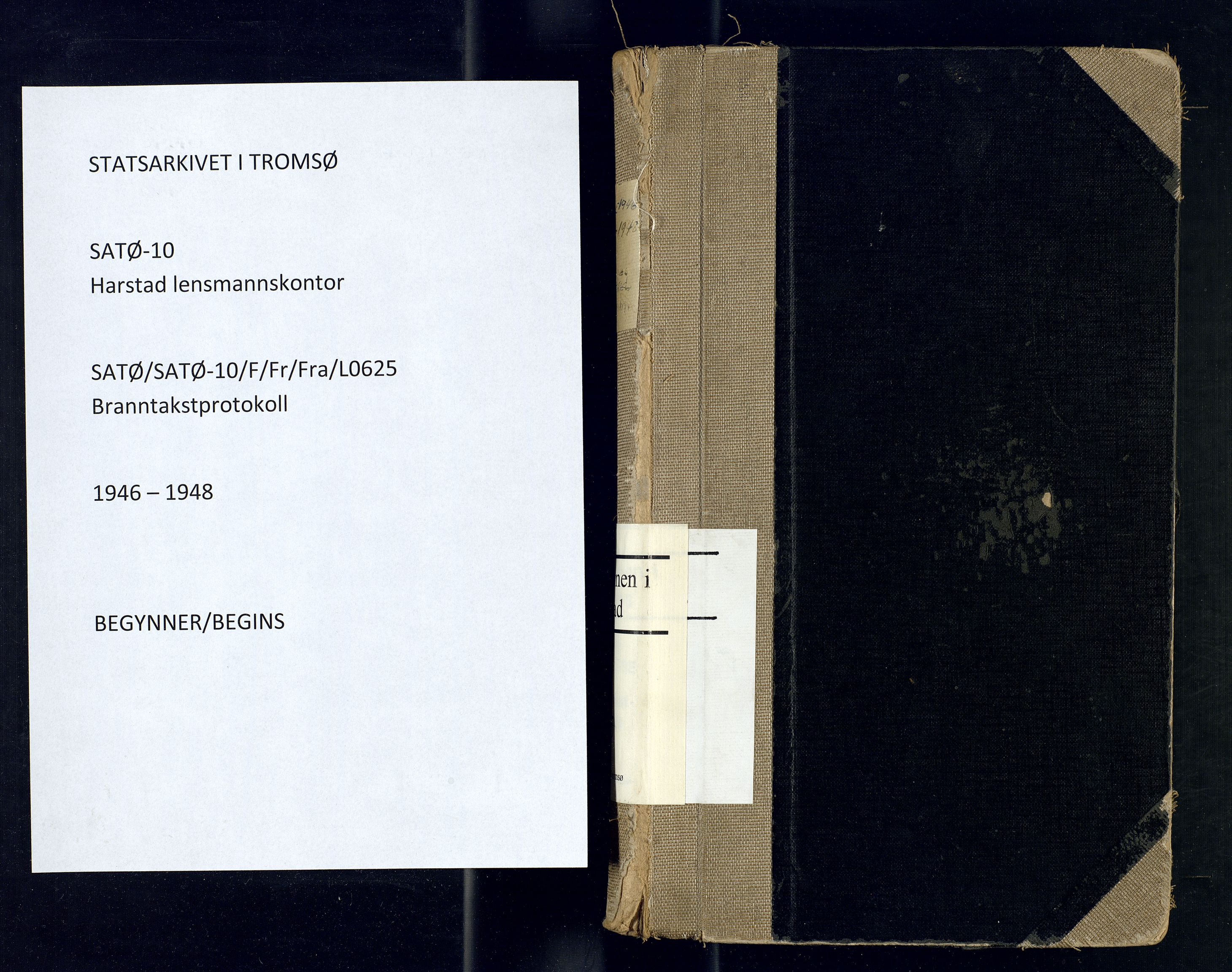 SATØ, Harstad lensmannskontor, F/Fr/Fra/L0625: Branntakstprotokoll, 1946-1948