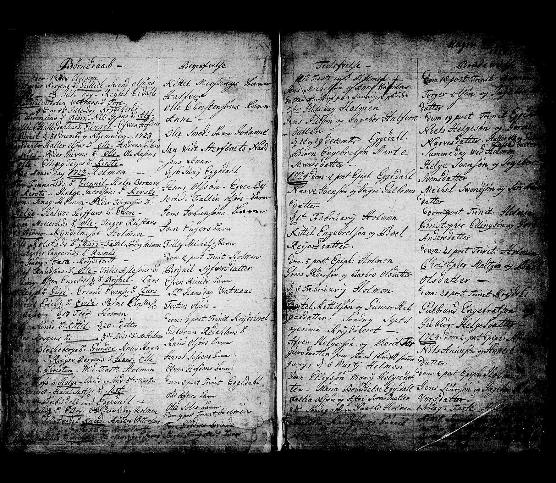 SAKO, Sigdal kirkebøker, F/Fa/L0001: Ministerialbok nr. I 1, 1722-1777, s. 6
