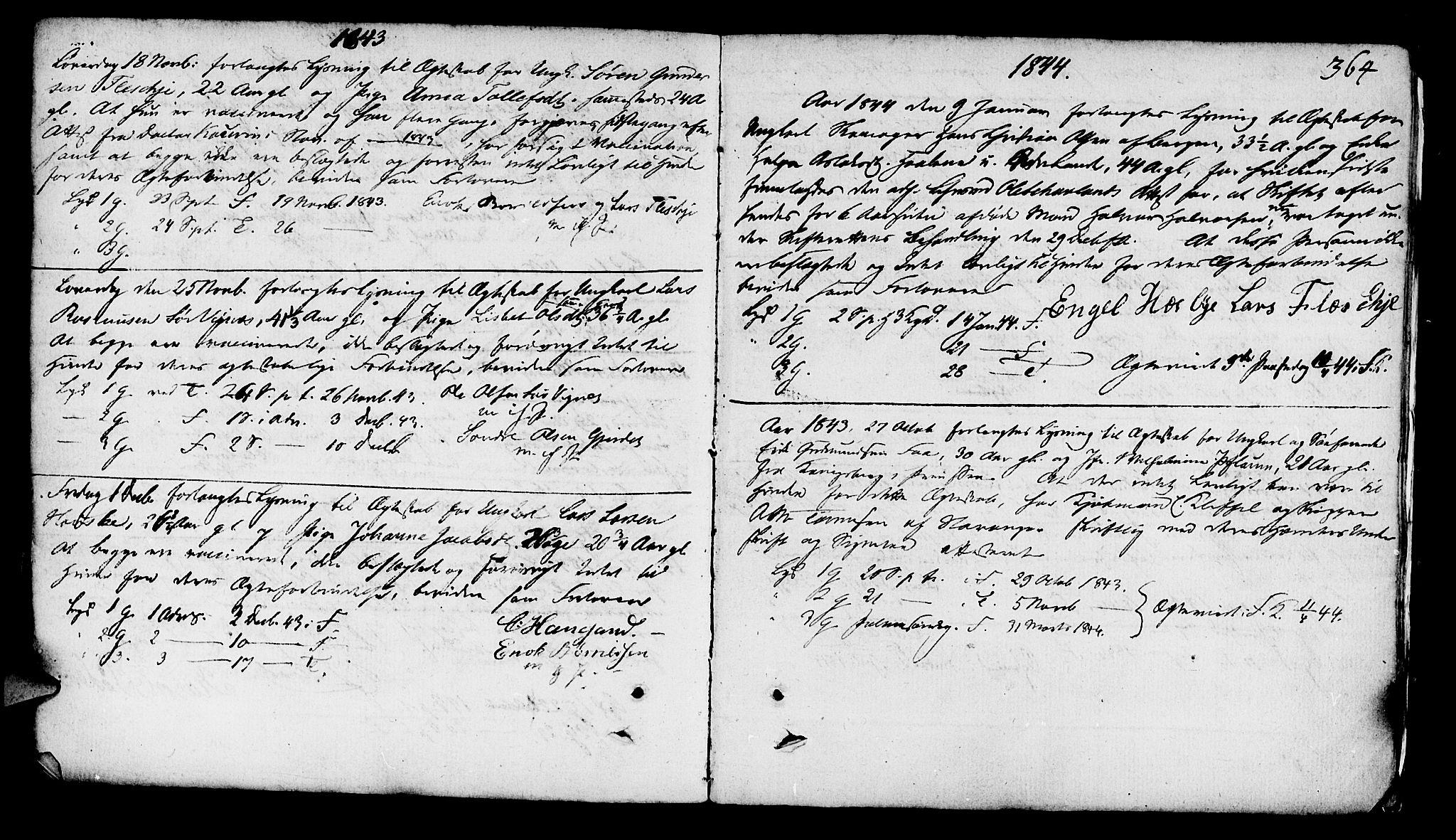 SAST, Finnøy sokneprestkontor, H/Ha/Haa/L0005: Ministerialbok nr. A 5, 1773-1816, s. 364