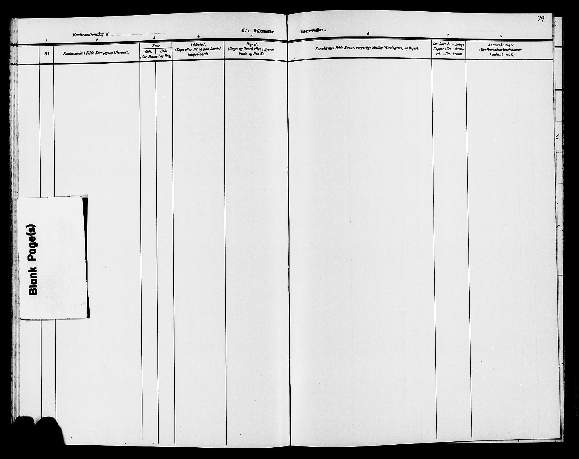 SAH, Søndre Land prestekontor, L/L0005: Klokkerbok nr. 5, 1902-1911, s. 79