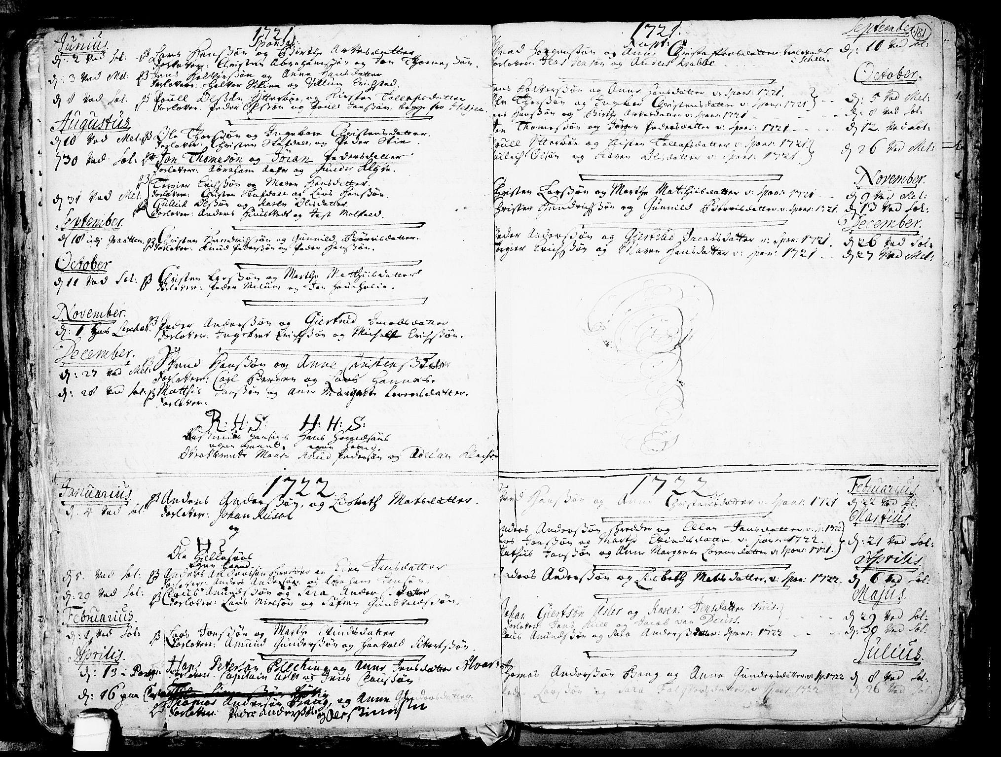 SAKO, Solum kirkebøker, F/Fa/L0002: Ministerialbok nr. I 2, 1713-1761, s. 181