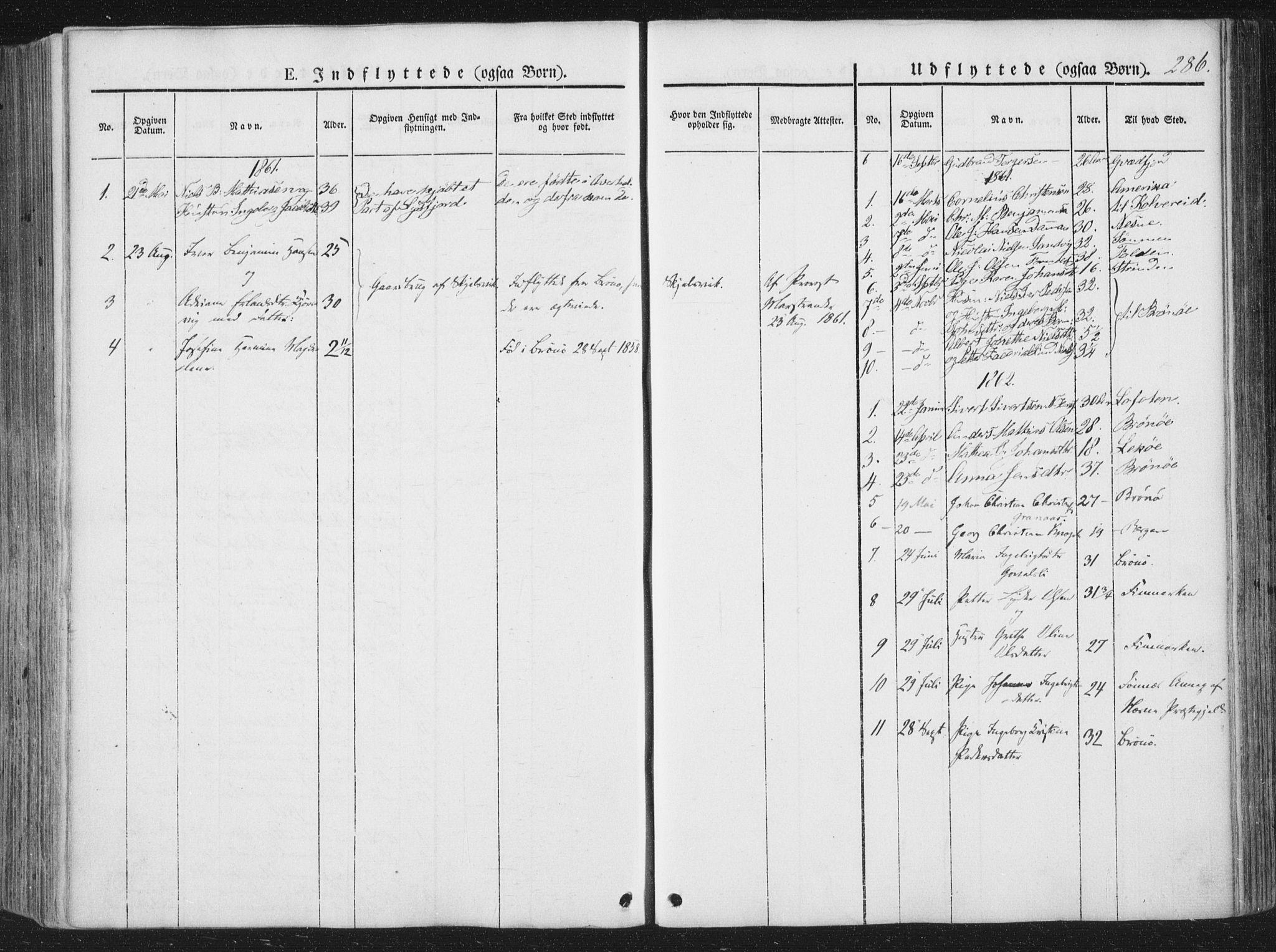 SAT, Ministerialprotokoller, klokkerbøker og fødselsregistre - Nordland, 810/L0144: Ministerialbok nr. 810A07 /1, 1841-1862, s. 286
