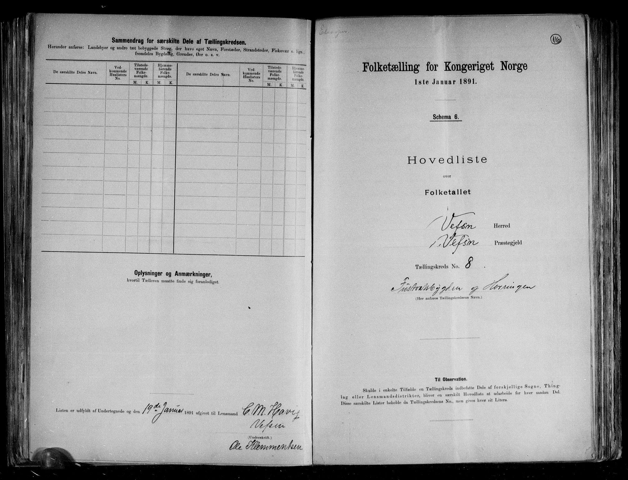 RA, Folketelling 1891 for 1824 Vefsn herred, 1891, s. 21