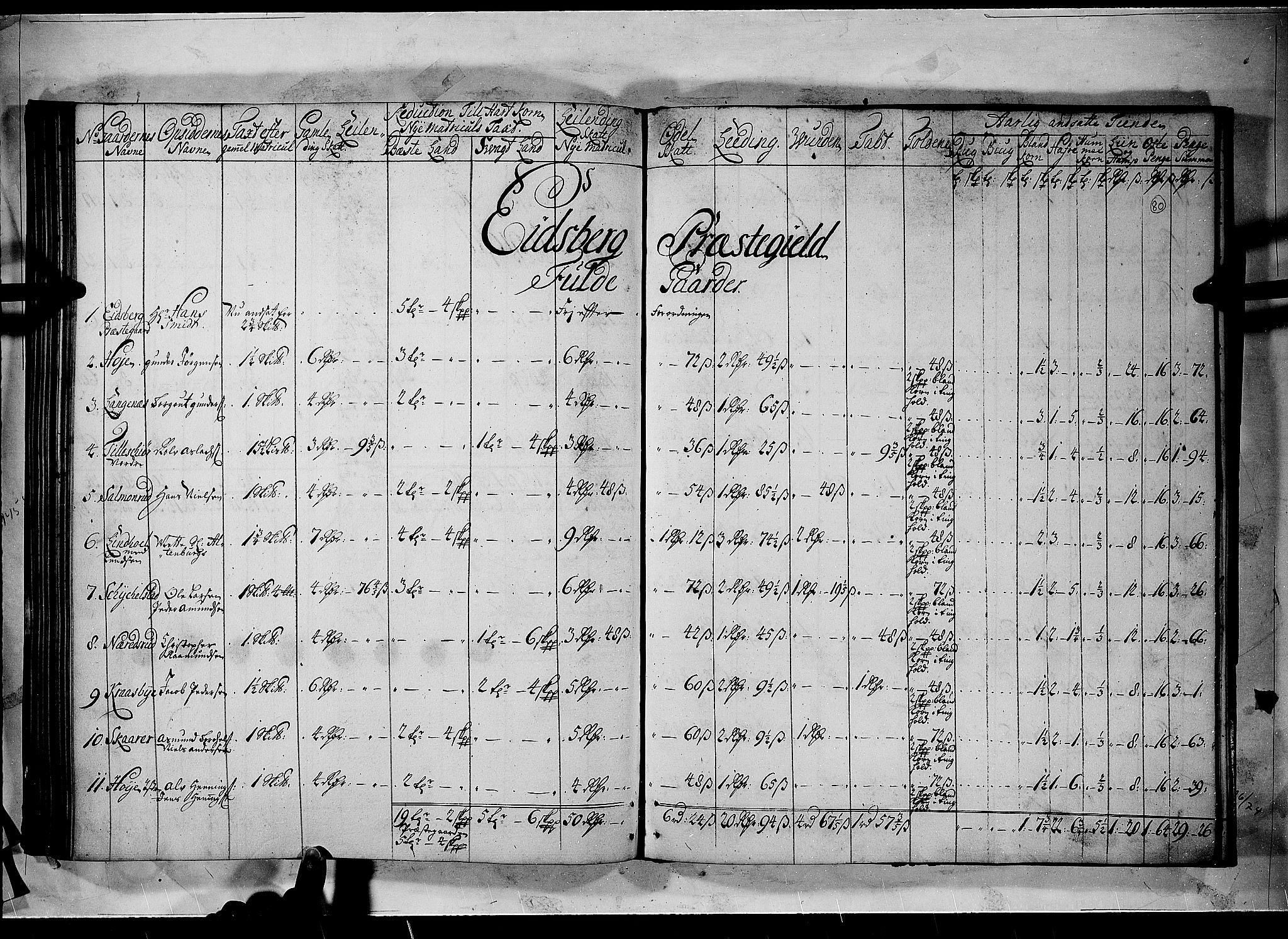 RA, Rentekammeret inntil 1814, Realistisk ordnet avdeling, N/Nb/Nbf/L0100: Rakkestad, Heggen og Frøland matrikkelprotokoll, 1723, s. 79b-80a