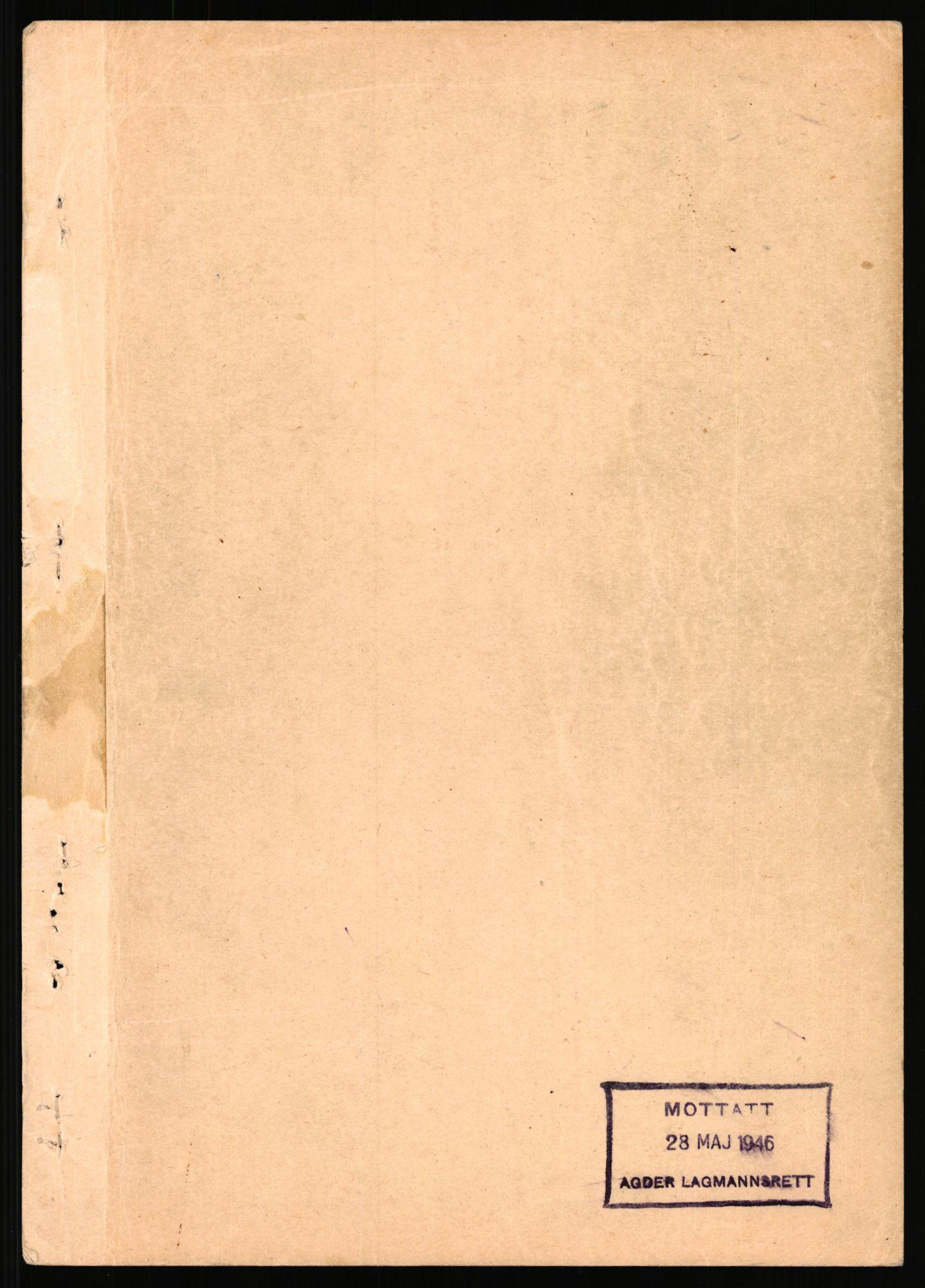 RA, Landssvikarkivet, Arendal politikammer, D/Dc/L0029: Anr. 192/45, 1945-1951, s. 941