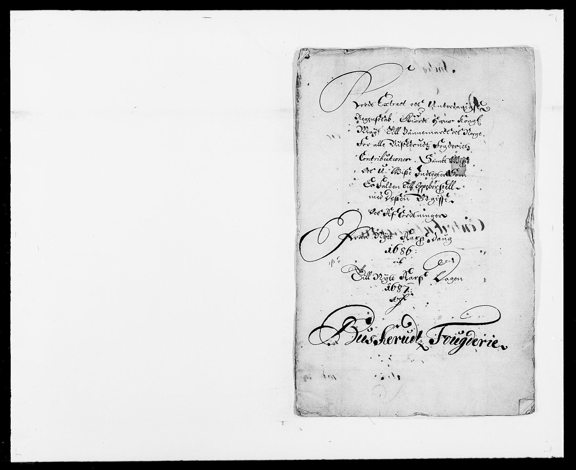 RA, Rentekammeret inntil 1814, Reviderte regnskaper, Fogderegnskap, R25/L1678: Fogderegnskap Buskerud, 1685-1686, s. 222