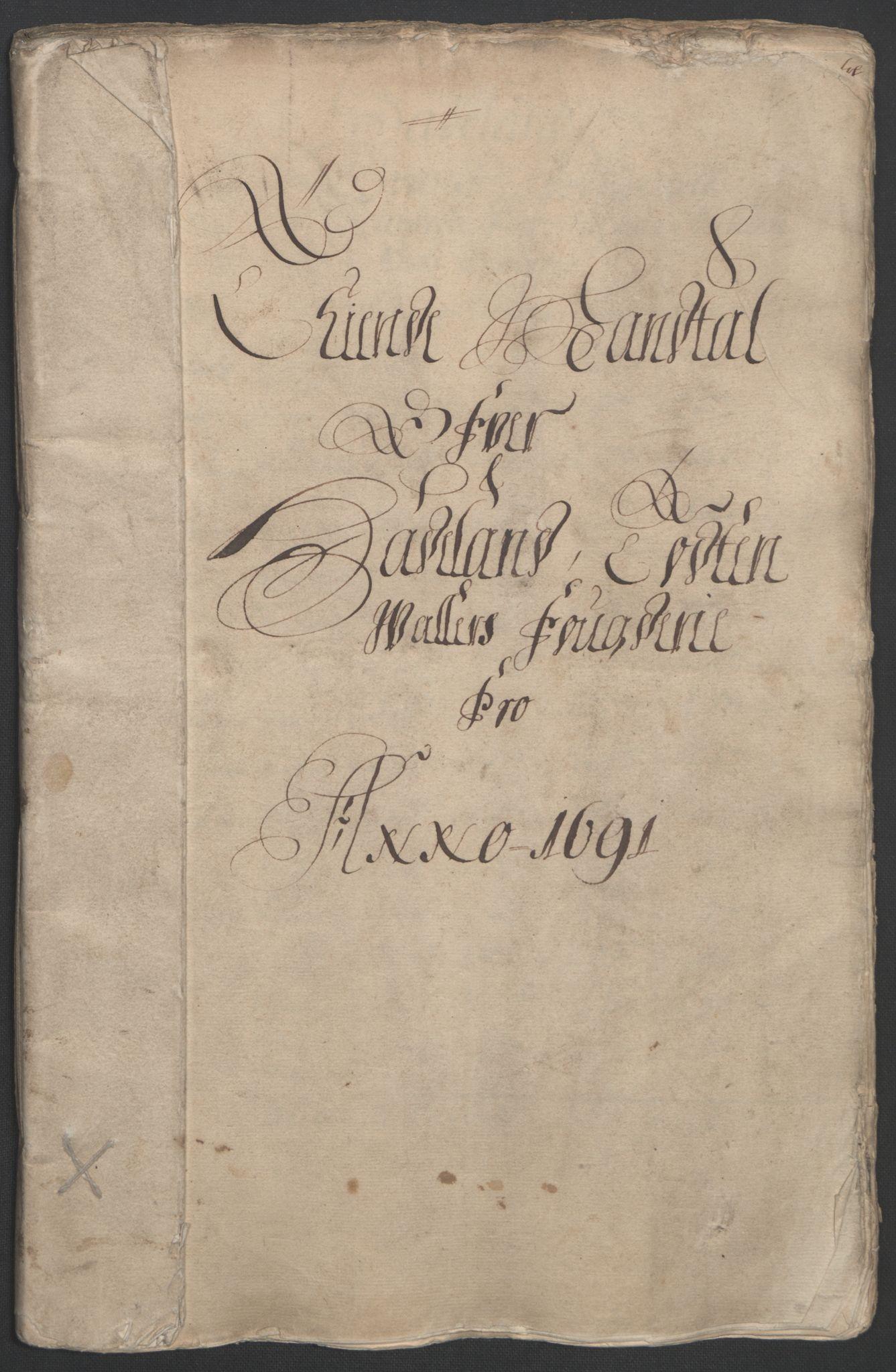 RA, Rentekammeret inntil 1814, Reviderte regnskaper, Fogderegnskap, R18/L1290: Fogderegnskap Hadeland, Toten og Valdres, 1691, s. 20