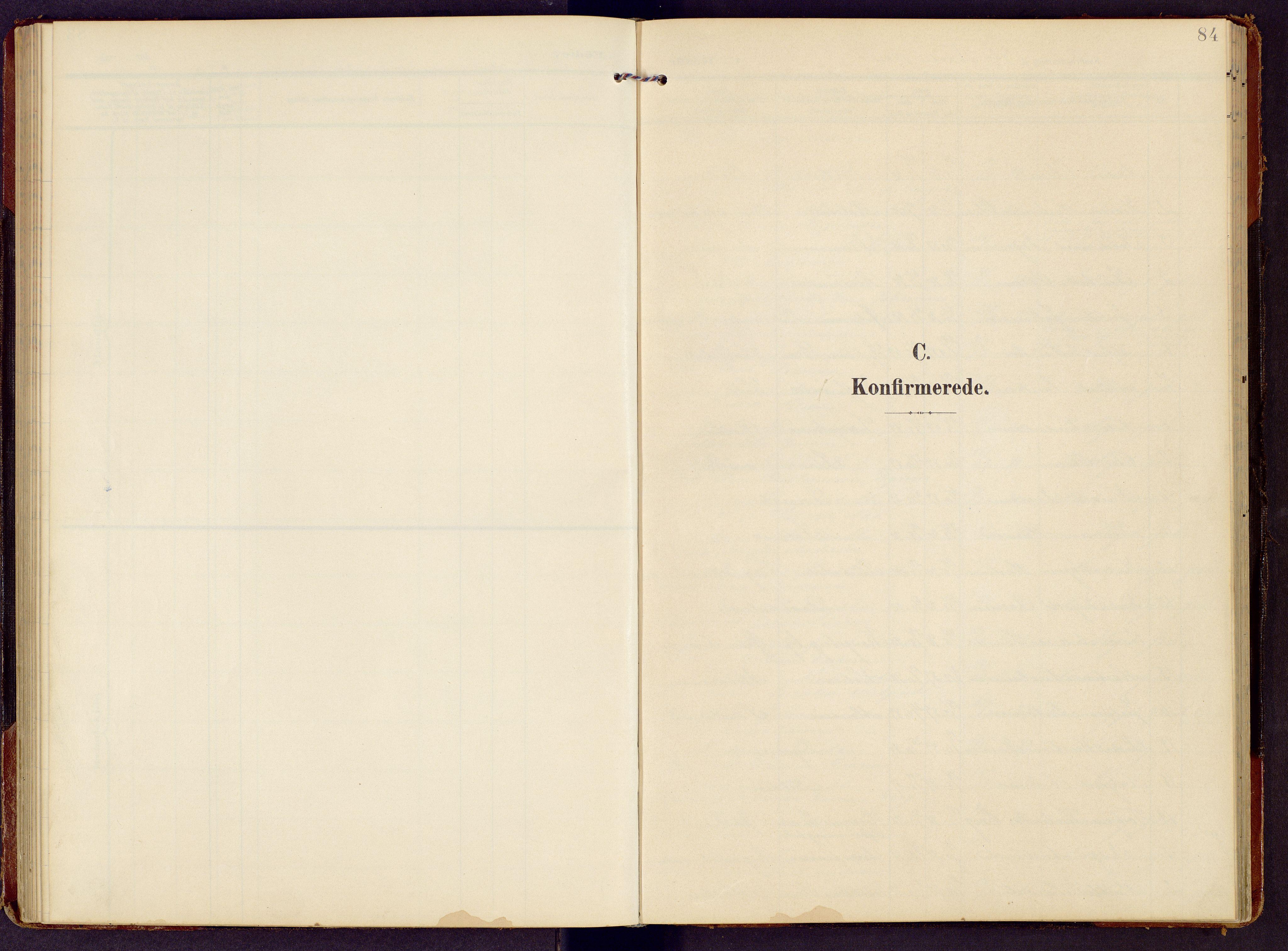 SAH, Brandbu prestekontor, Klokkerbok nr. 9, 1903-1916, s. 84