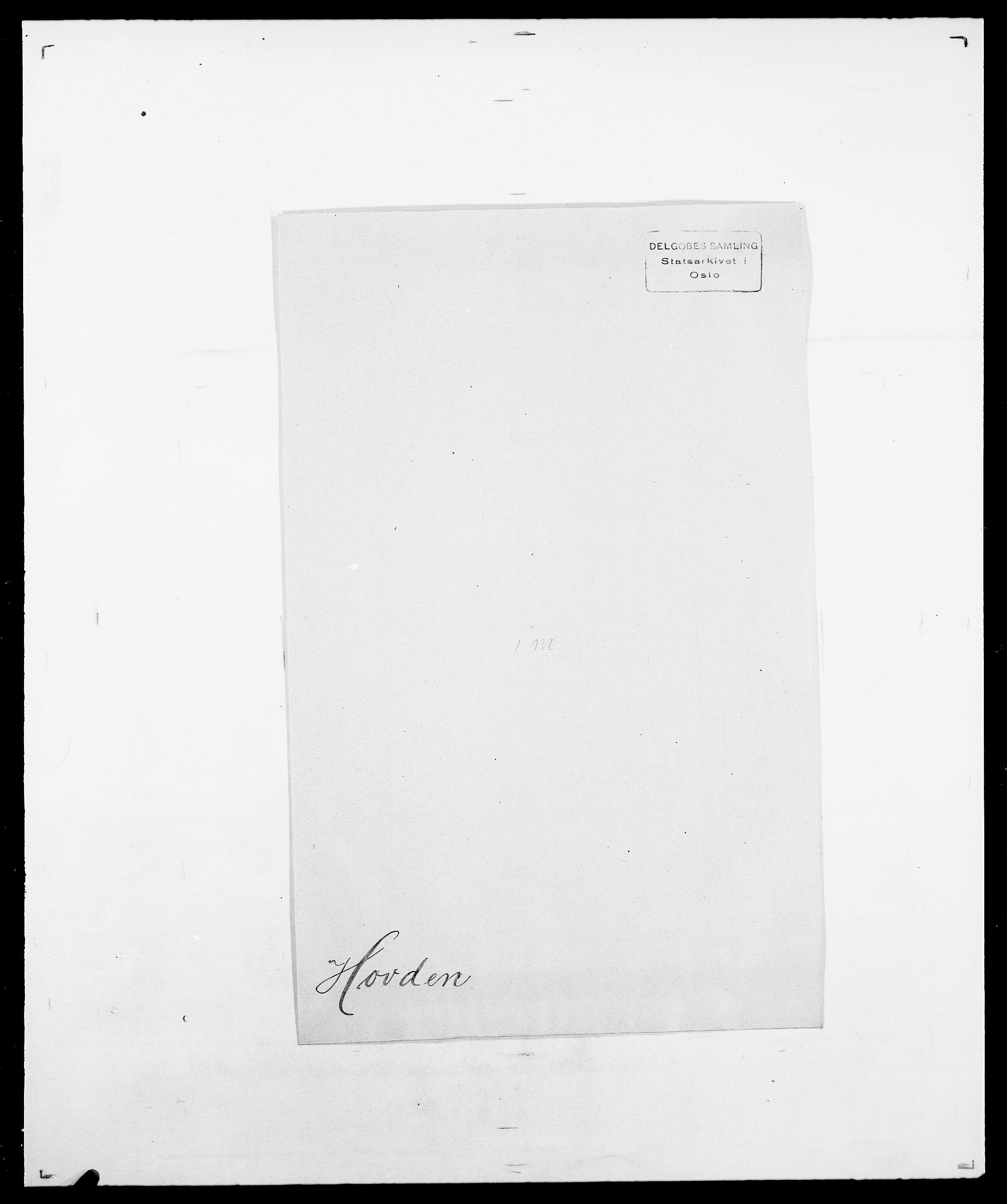 SAO, Delgobe, Charles Antoine - samling, D/Da/L0018: Hoch - Howert, s. 1040