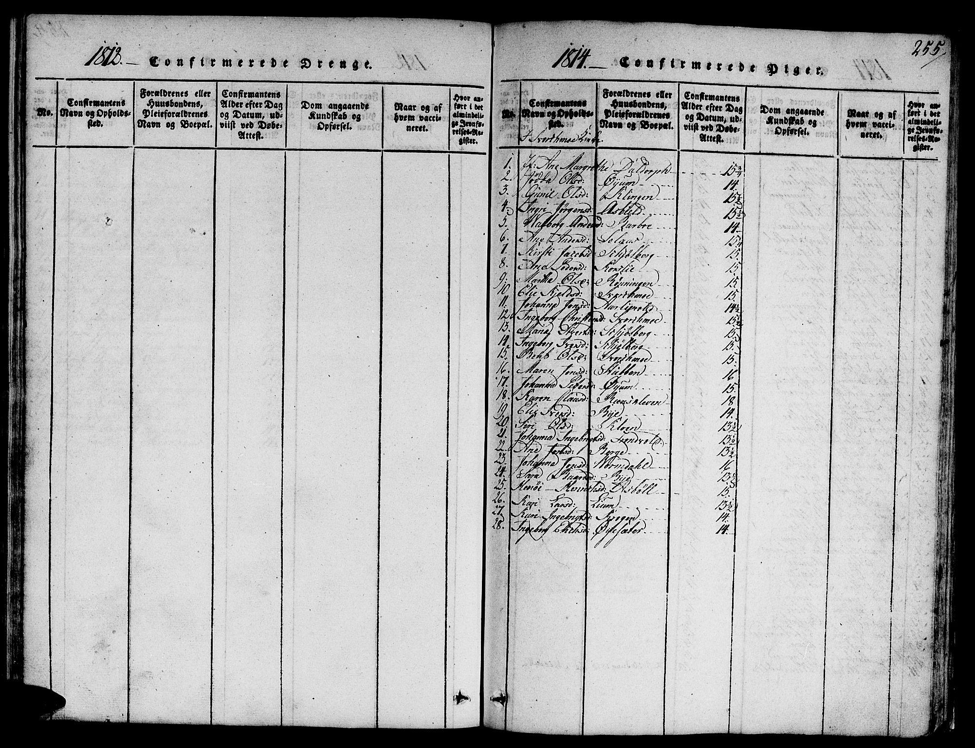 SAT, Ministerialprotokoller, klokkerbøker og fødselsregistre - Sør-Trøndelag, 668/L0803: Ministerialbok nr. 668A03, 1800-1826, s. 255