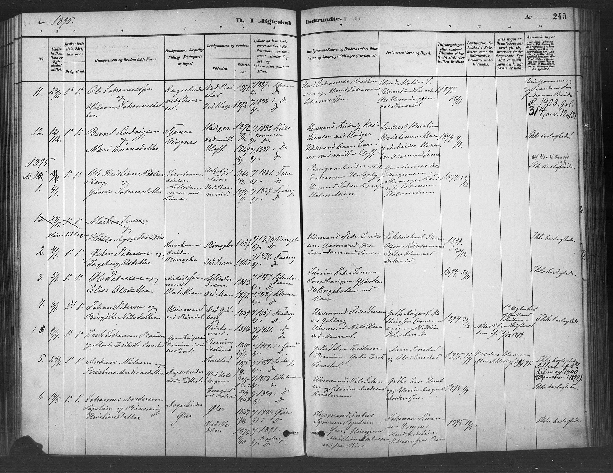 SAH, Fåberg prestekontor, Ministerialbok nr. 9, 1879-1898, s. 245