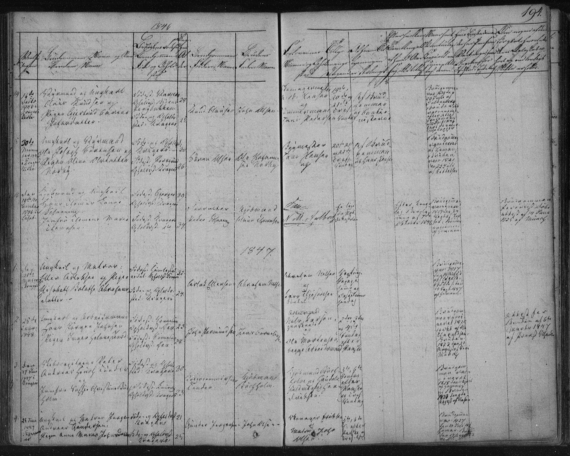 SAKO, Kragerø kirkebøker, F/Fa/L0005: Ministerialbok nr. 5, 1832-1847, s. 194