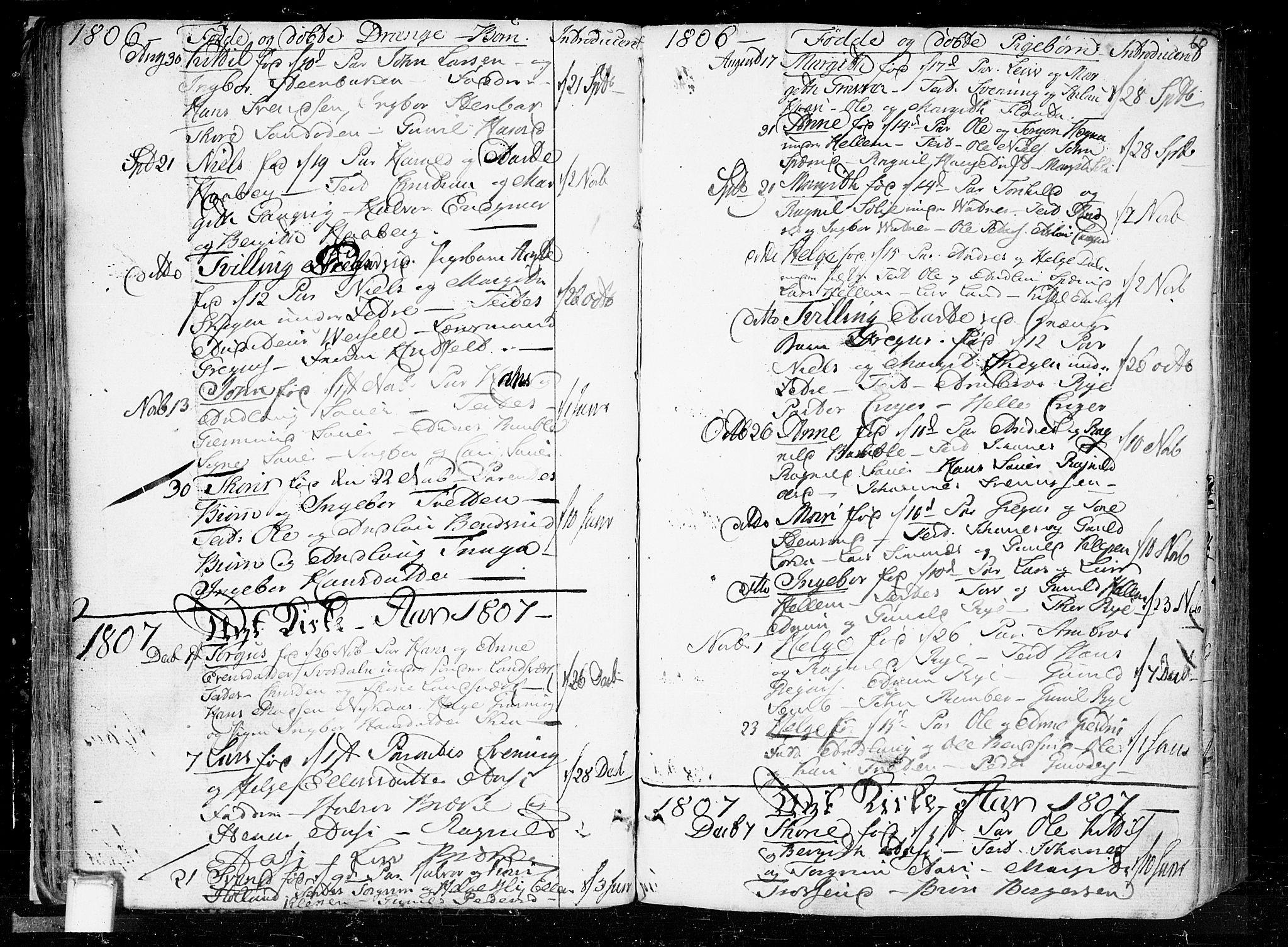 SAKO, Heddal kirkebøker, F/Fa/L0004: Ministerialbok nr. I 4, 1784-1814, s. 60