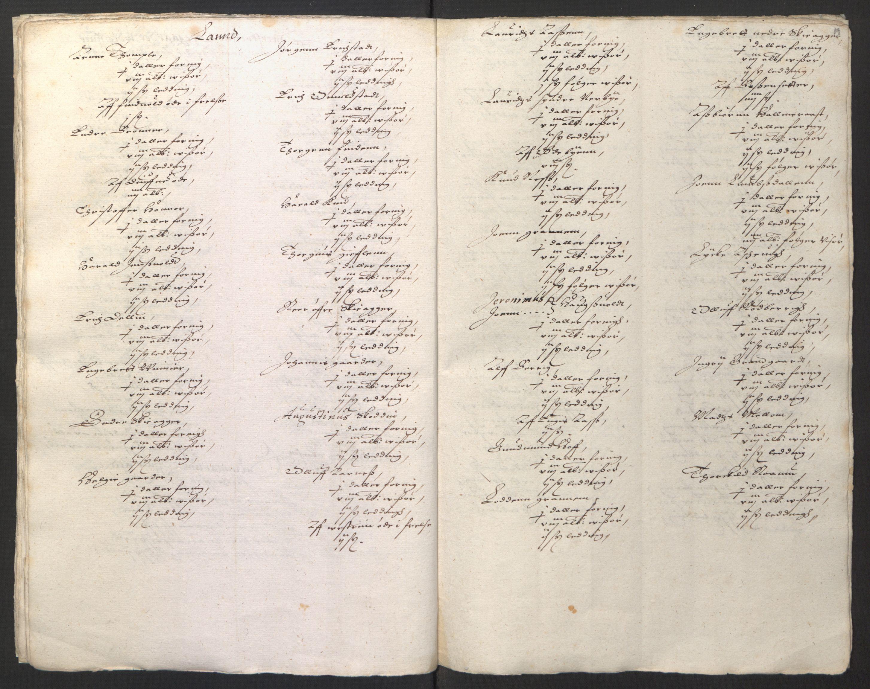 RA, Stattholderembetet 1572-1771, Ek/L0001: Jordebøker før 1624 og til utligning av garnisonsskatt 1624-1626:, 1624-1625, s. 85