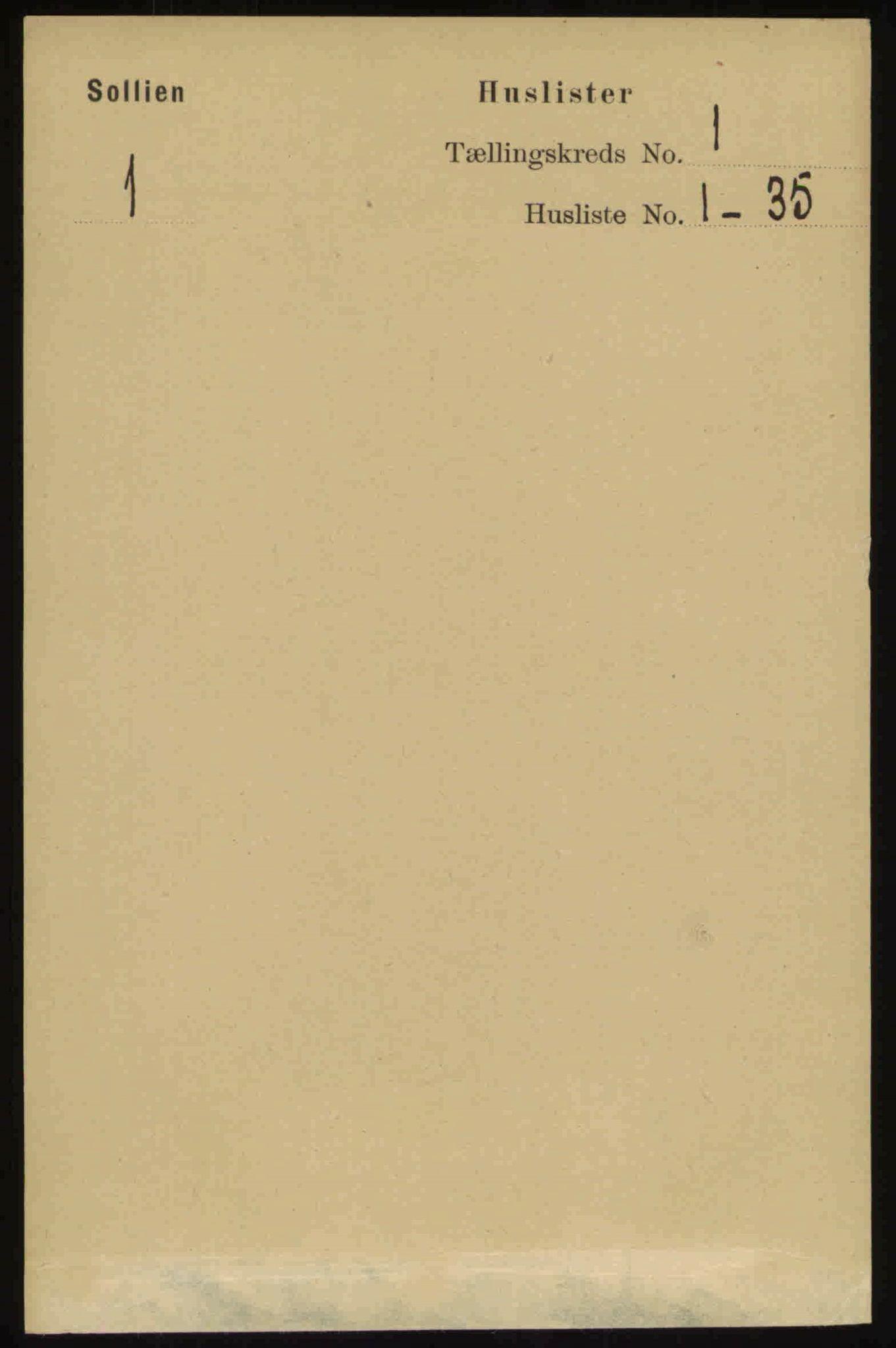 RA, Folketelling 1891 for 0431 Sollia herred, 1891, s. 10