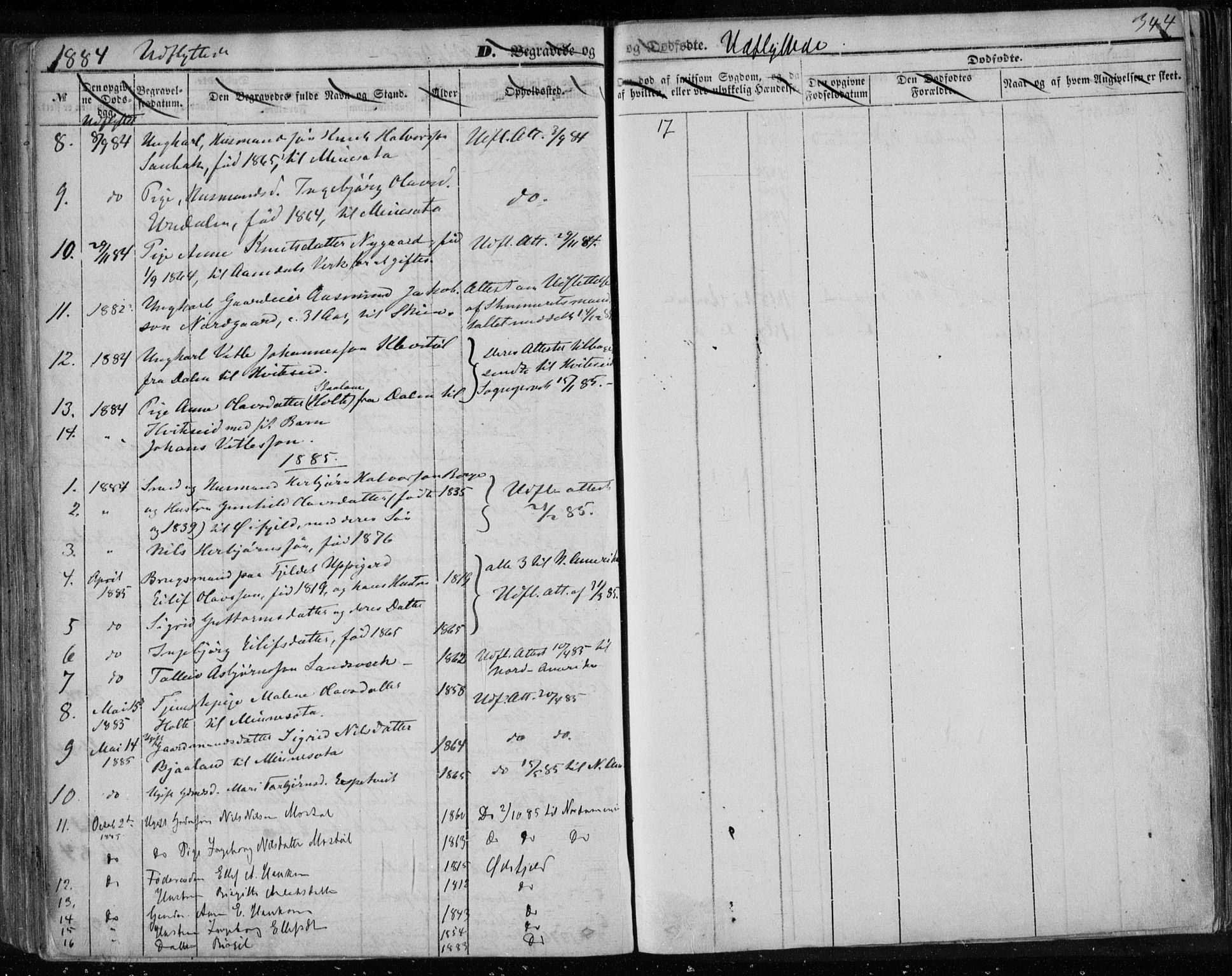 SAKO, Lårdal kirkebøker, F/Fa/L0006: Ministerialbok nr. I 6, 1861-1886, s. 344