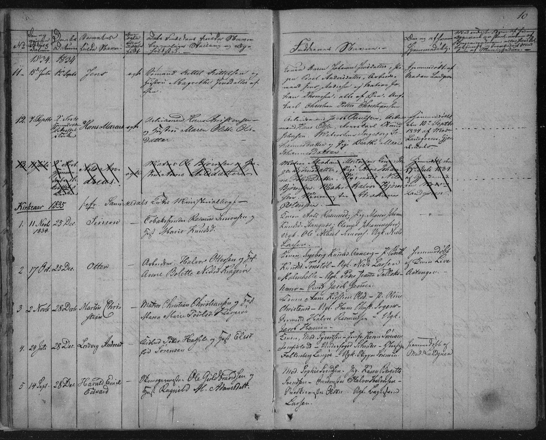 SAKO, Kragerø kirkebøker, F/Fa/L0005: Ministerialbok nr. 5, 1832-1847, s. 10