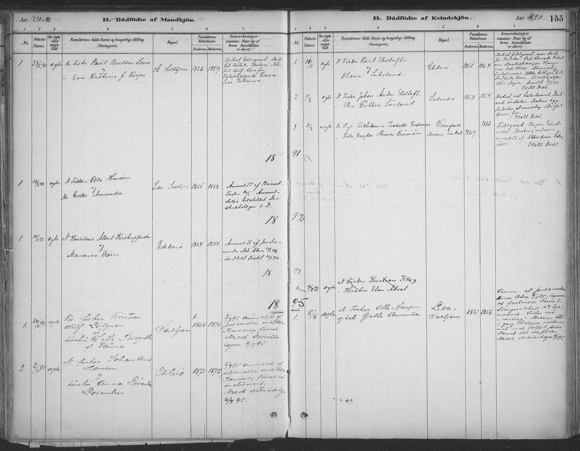 SATØ, Vadsø sokneprestkontor, H/Ha/L0009kirke: Ministerialbok nr. 9, 1881-1917, s. 155